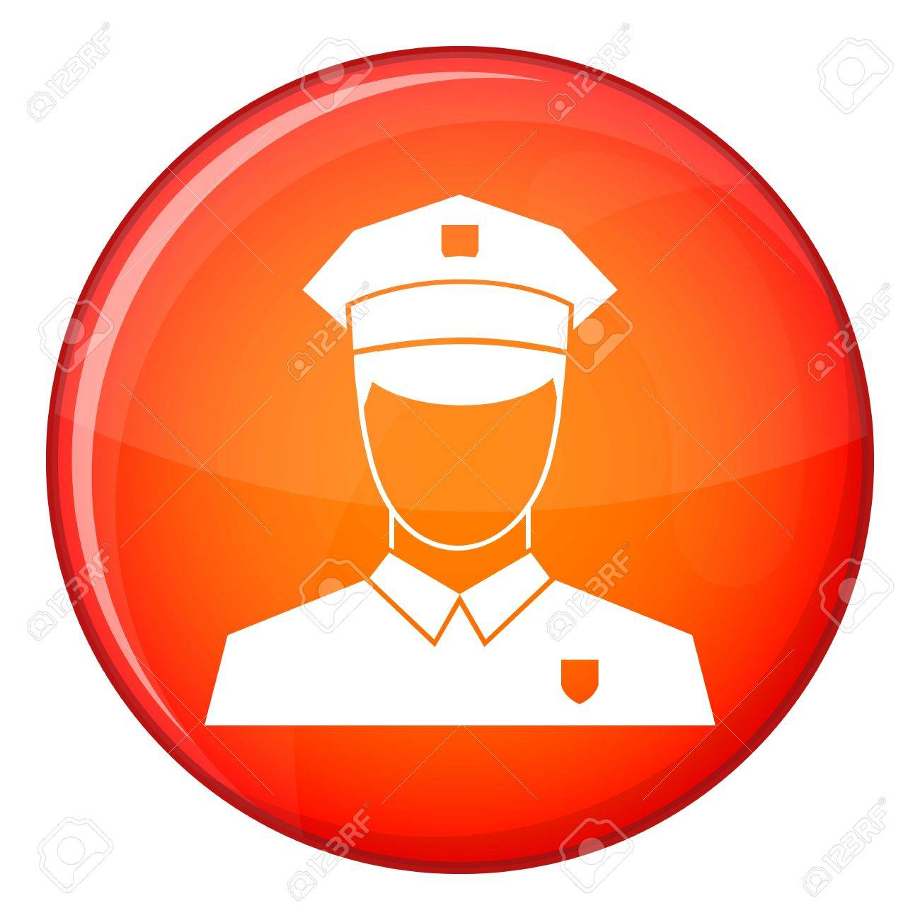 f2e63389ae041 Pilot icon in red circle isolated on white background vector illustration  Stock Vector - 67622072