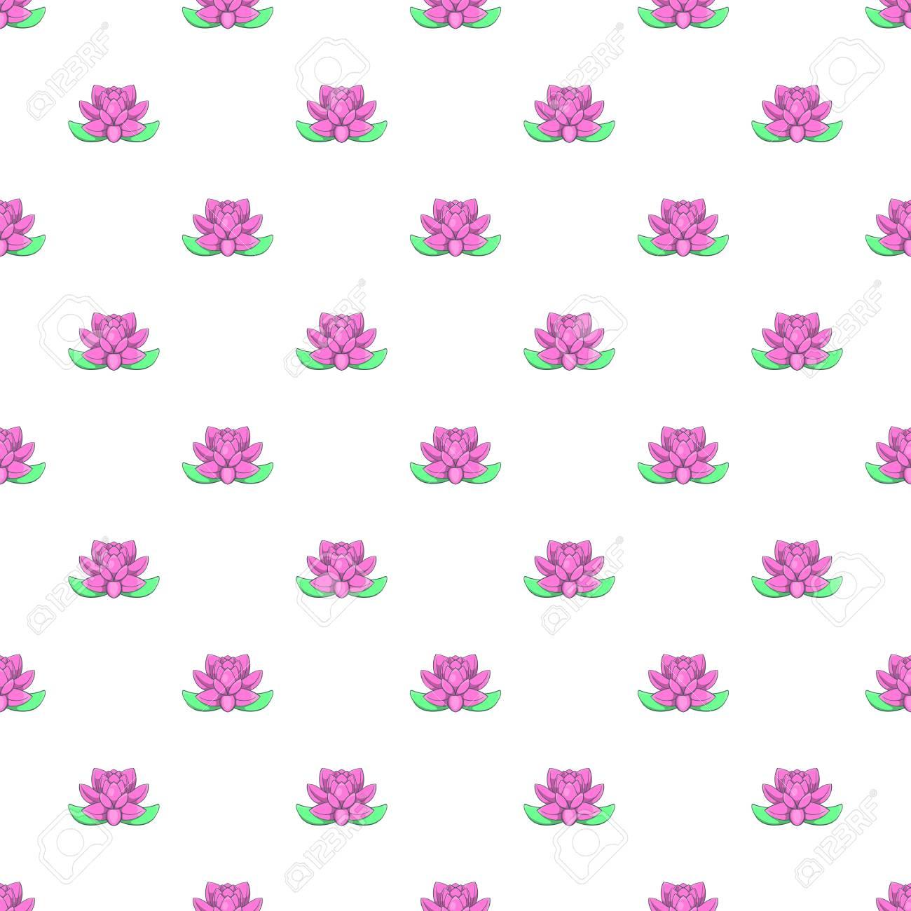 Lotus flower pattern cartoon illustration of lotus flower vector lotus flower pattern cartoon illustration of lotus flower vector pattern for web stock vector izmirmasajfo