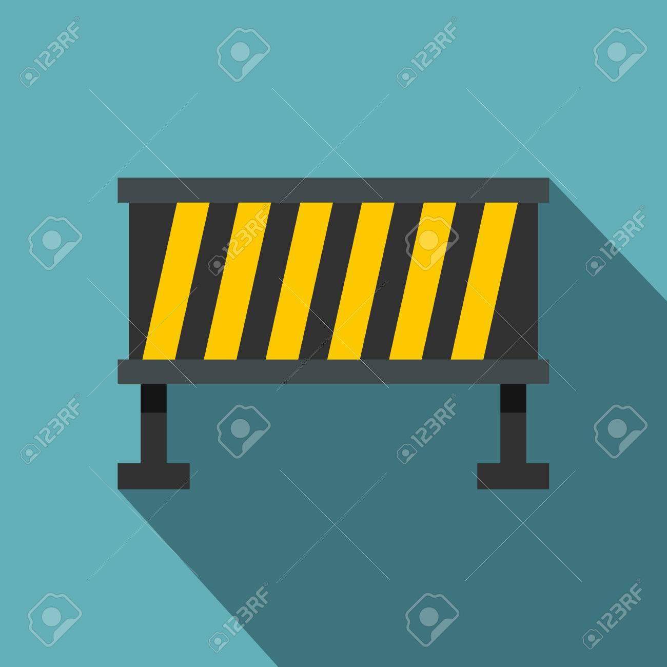 Safety Barricade Icon Flat Illustration Of Safety Barricade