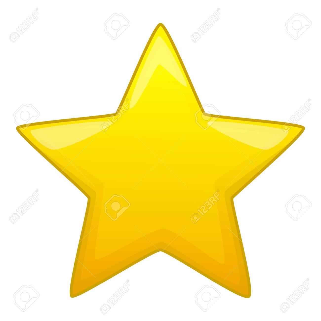 Cinco Puntas Amarilla Icono De Estrella Ilustracion De Dibujos