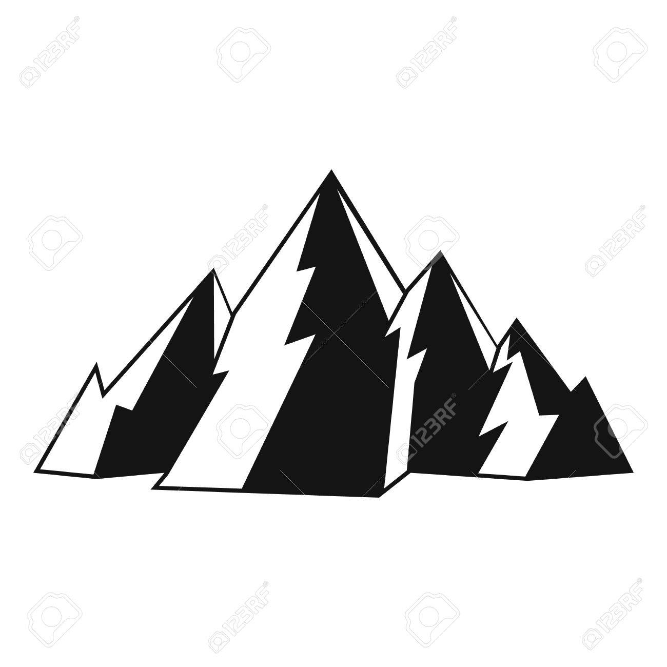 mountain icon simple illustration of mountain vector icon for rh 123rf com mountain vector clip art mountain vector energy