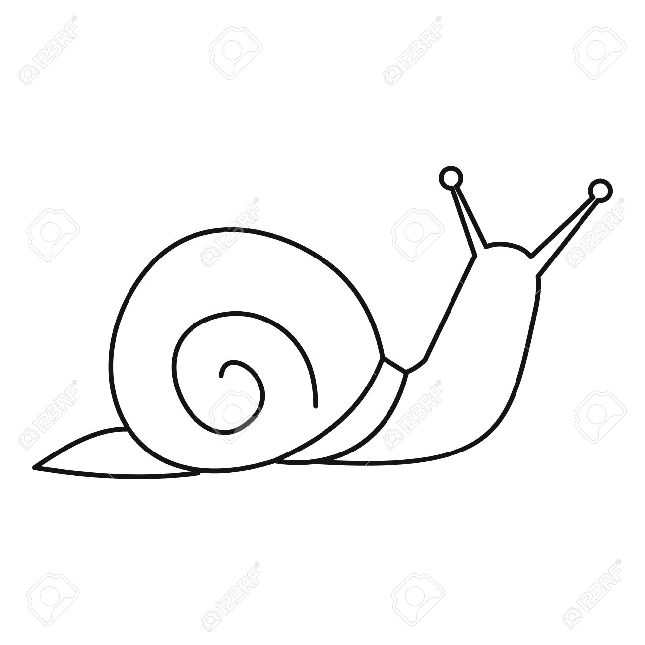 snail icon outline illustration of snail vector icon for web rh 123rf com
