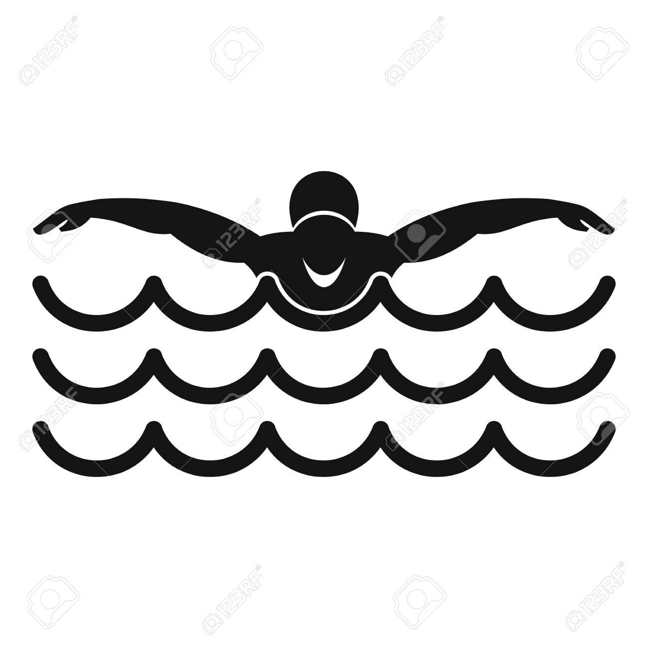 butterfly swimmer icon simple illustration of butterfly swimmer rh 123rf com swimming victoria leisure centre nottingham swimming victoria centre