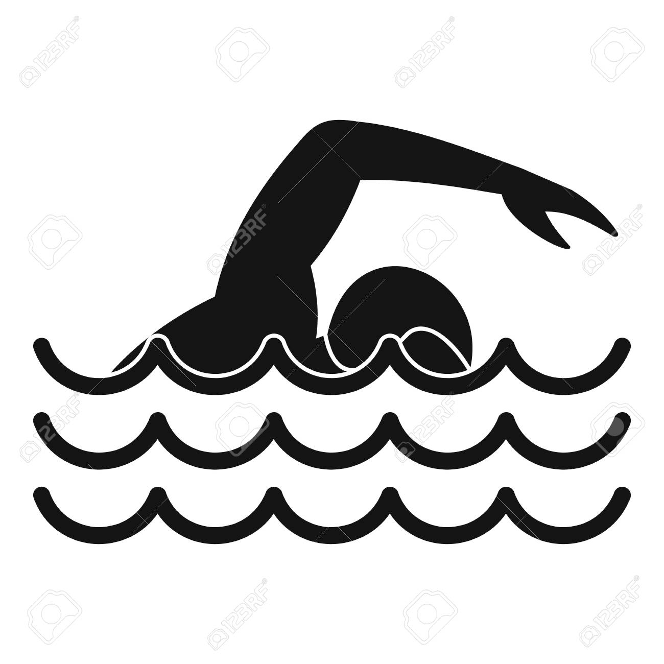 swimmer icon simple illustration of swimmer vector icon for rh 123rf com swimming vector art swimmer victoria arlen
