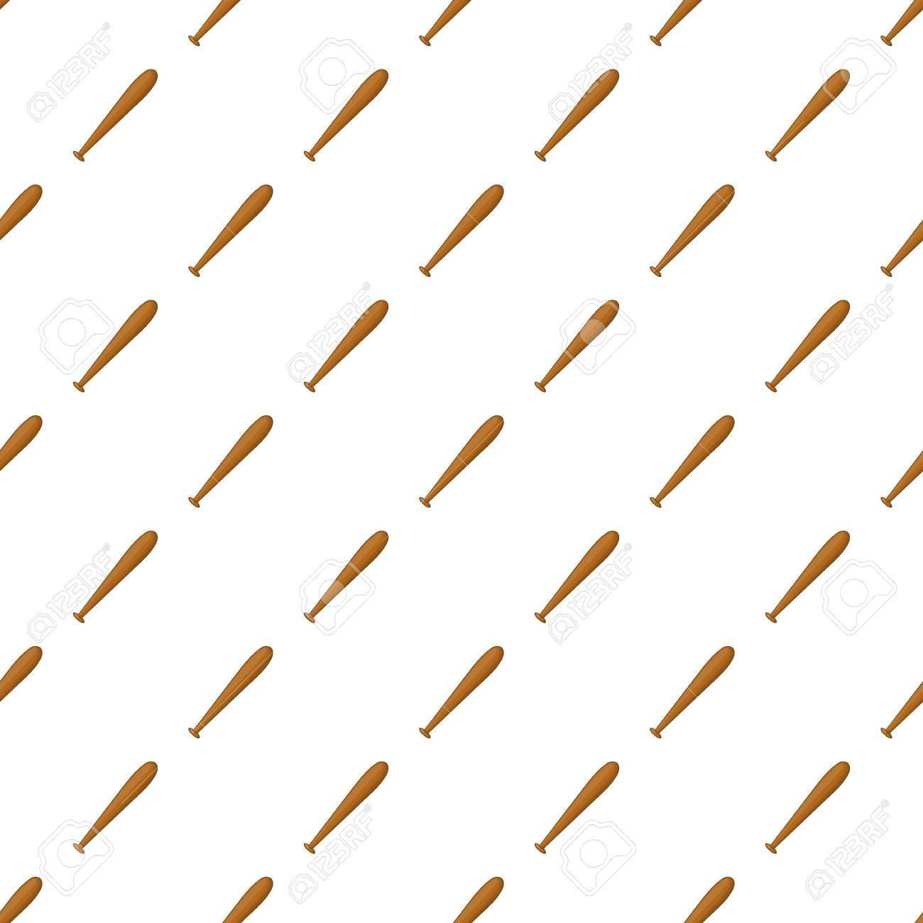 Baseball Bat Pattern Cartoon Illustration Of Baseball Bat Vector