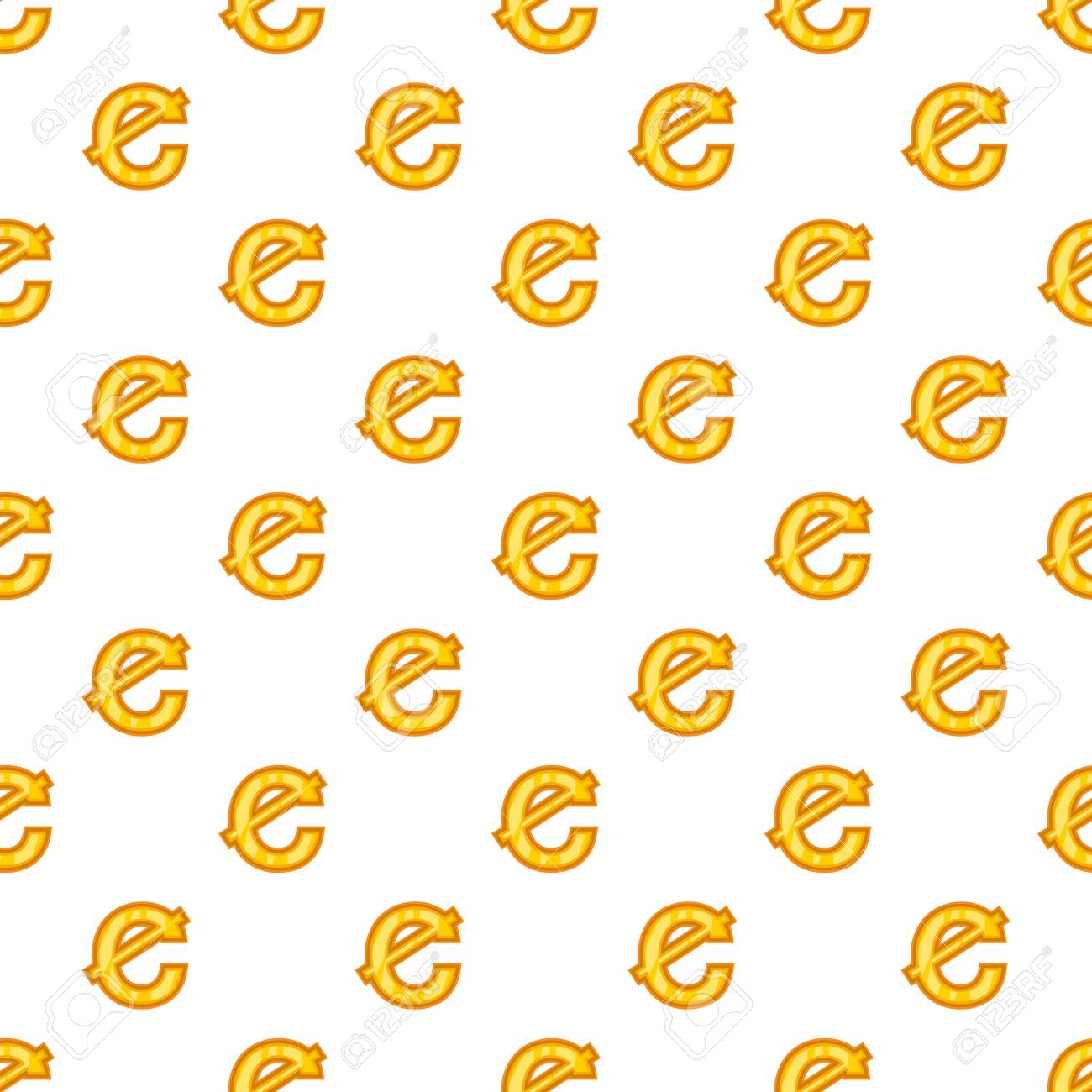 Cent Currency Symbol Pattern Cartoon Illustration Of Cent Currency