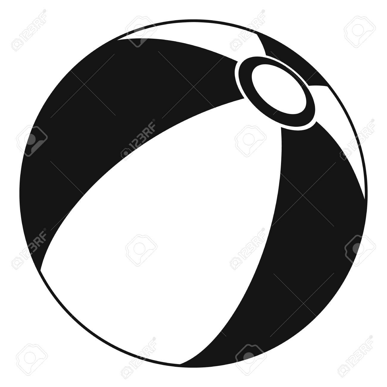 beach ball icon simple illustration of beach ball vector icon rh 123rf com