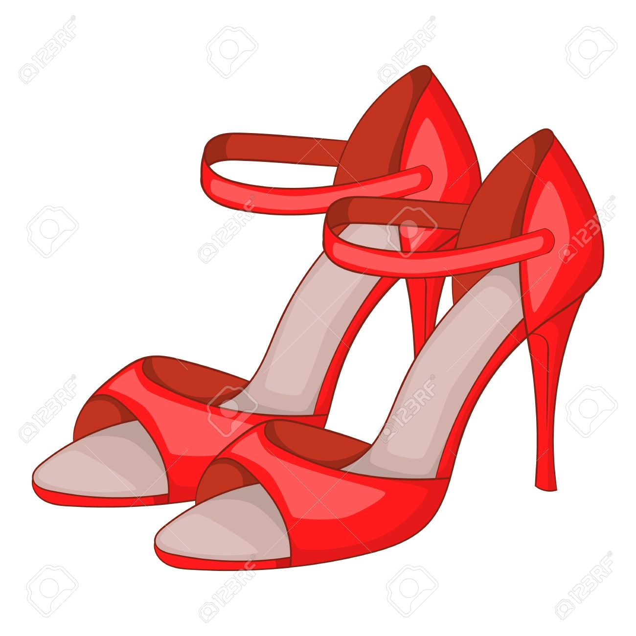 Red Woman Tango Heels IconCartoon High Style Nn0Oyv8mw