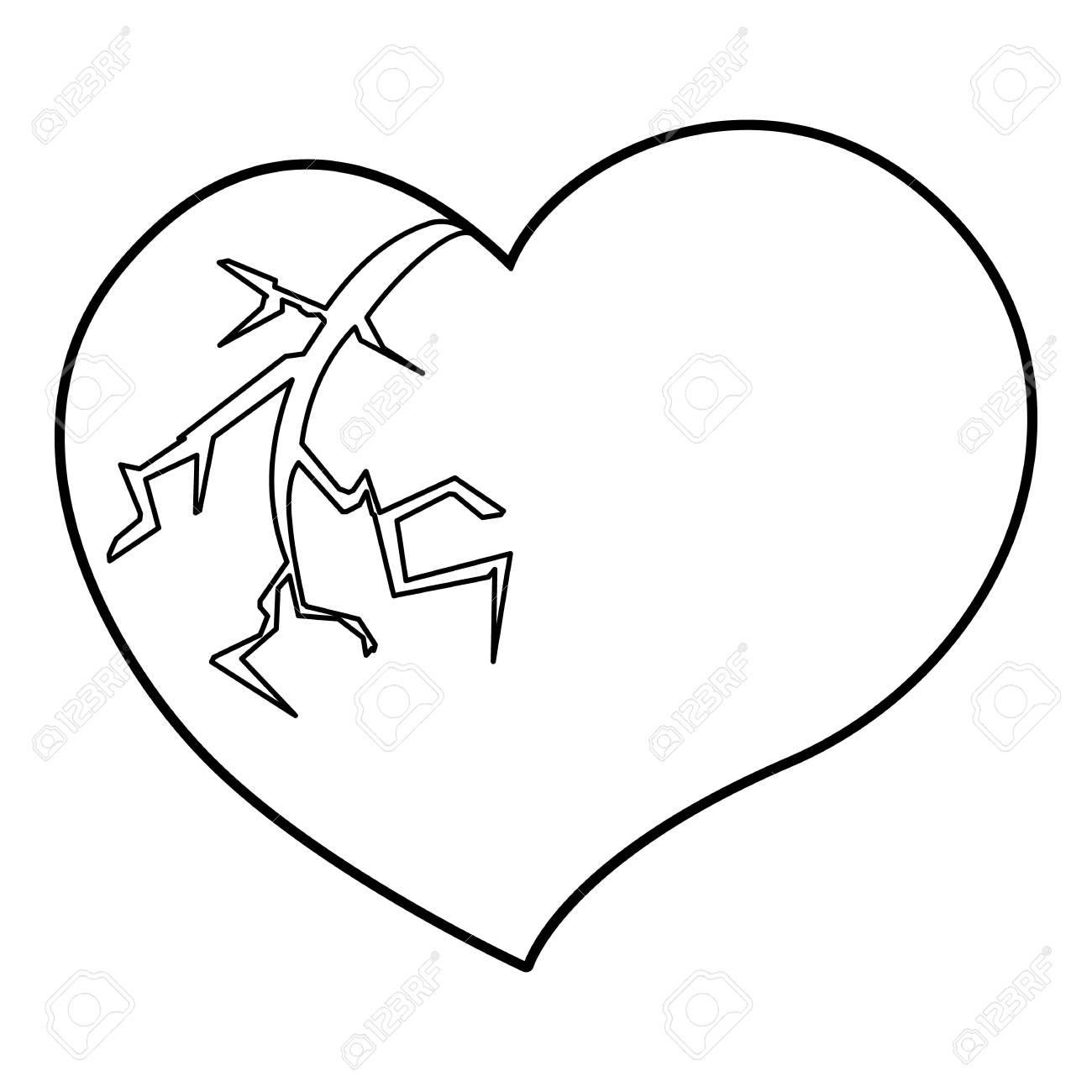 Gebrochenes Herz Zeichnen Einfach