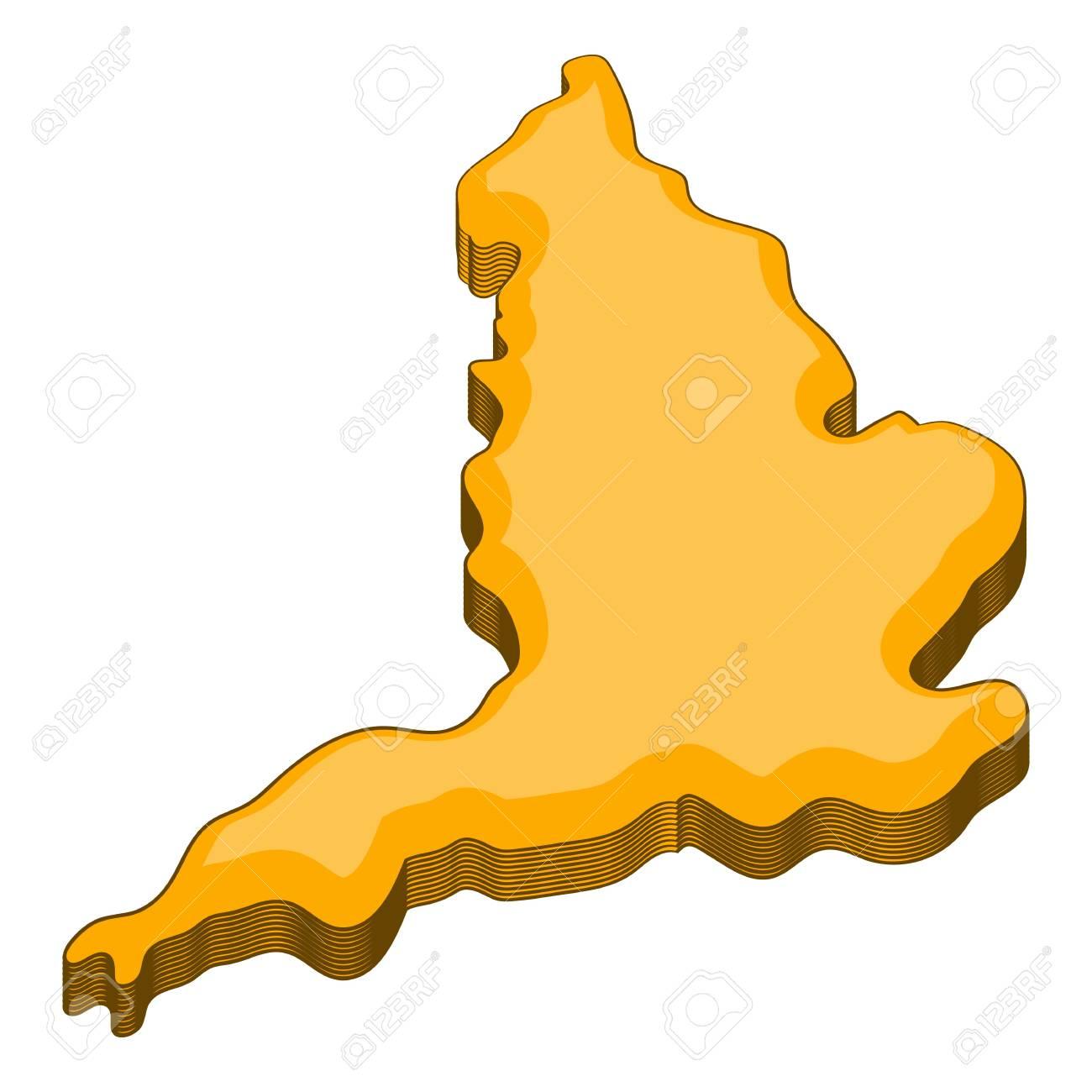Map Of United Kingdom Icon Cartoon Illustration Of Map Of United