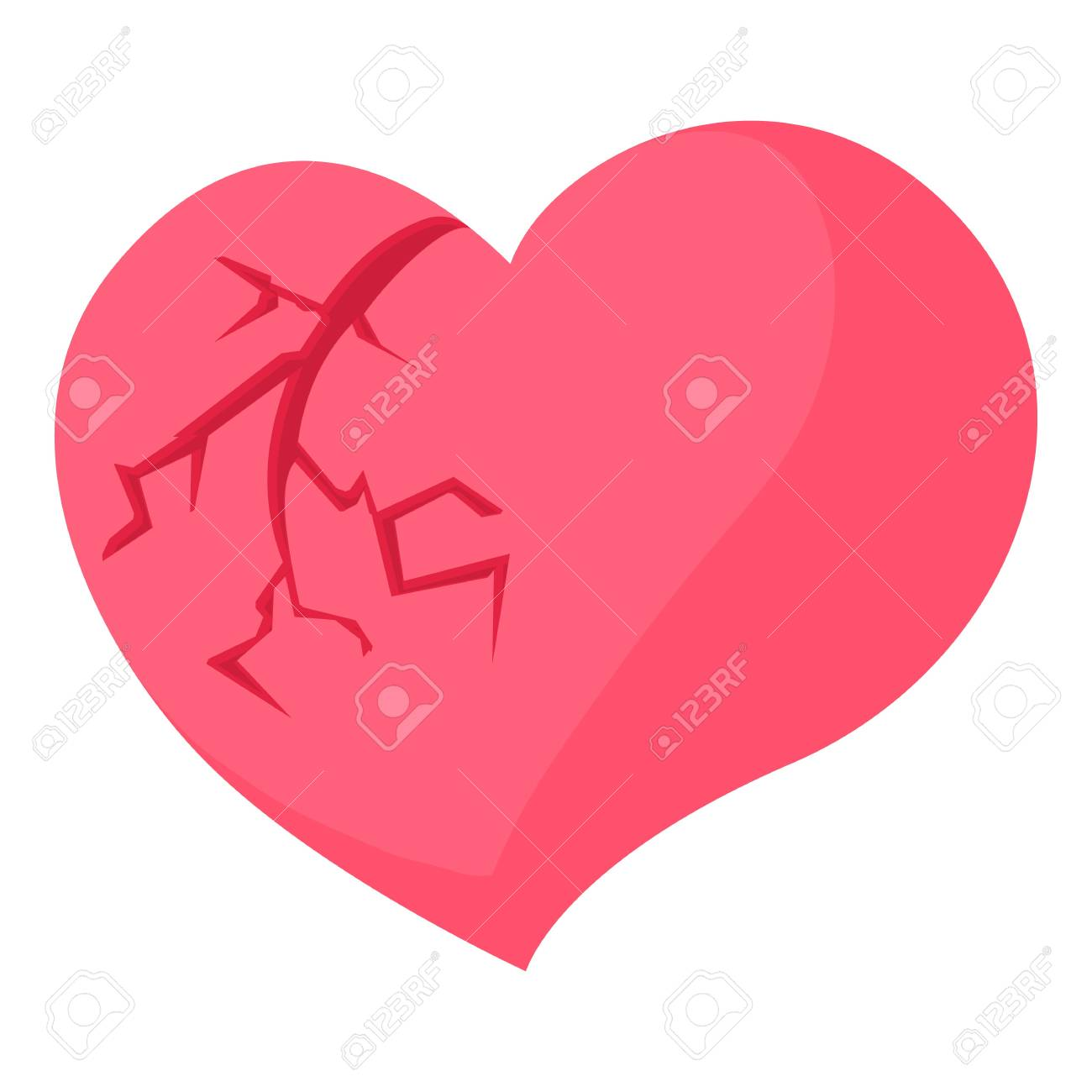 broken heart icon cartoon illustration of broken heart vector rh 123rf com broken heart vector png broken heart vector free