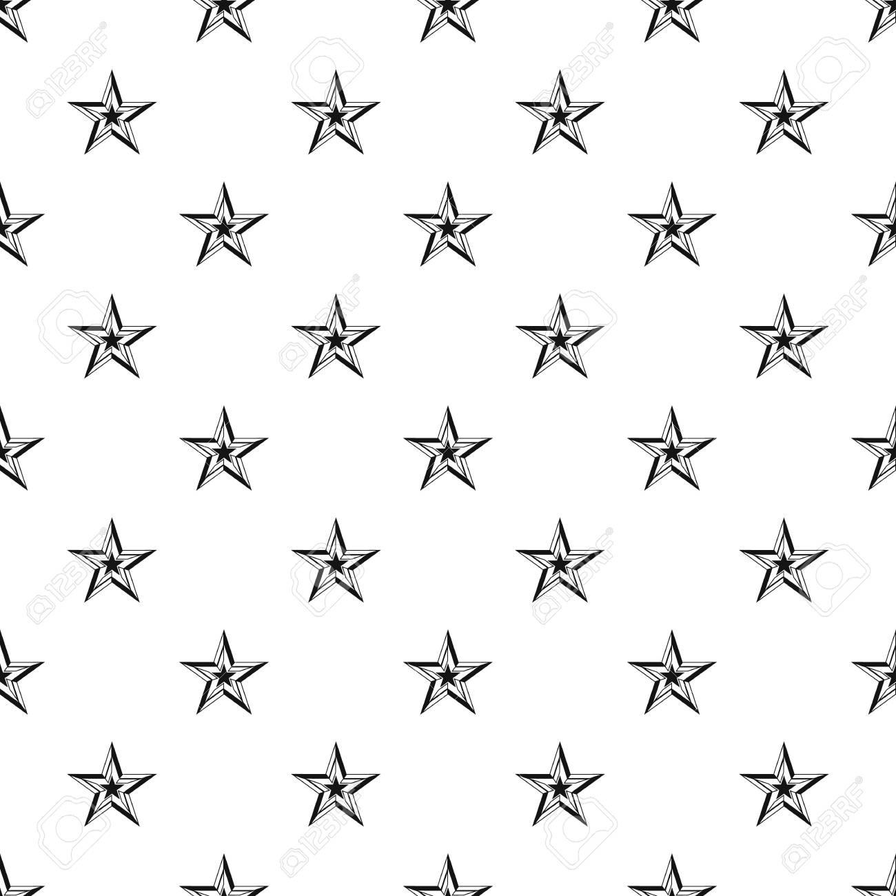 Fünf Zackigen Stern Muster. Einfache Abbildung Von Fünfzackigen ...