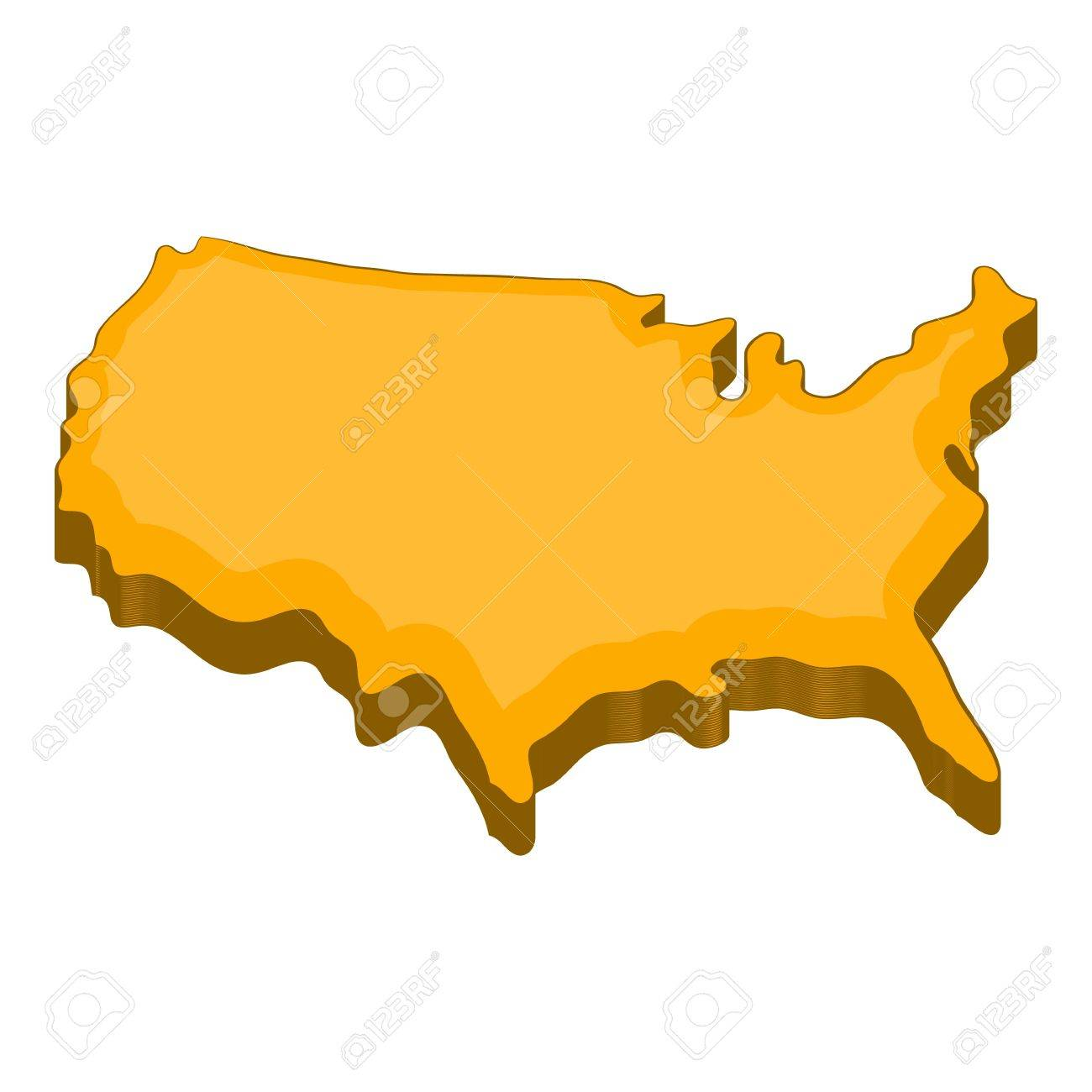 American Map Vector.American Map Icon Cartoon Illustration Of American Map Vector