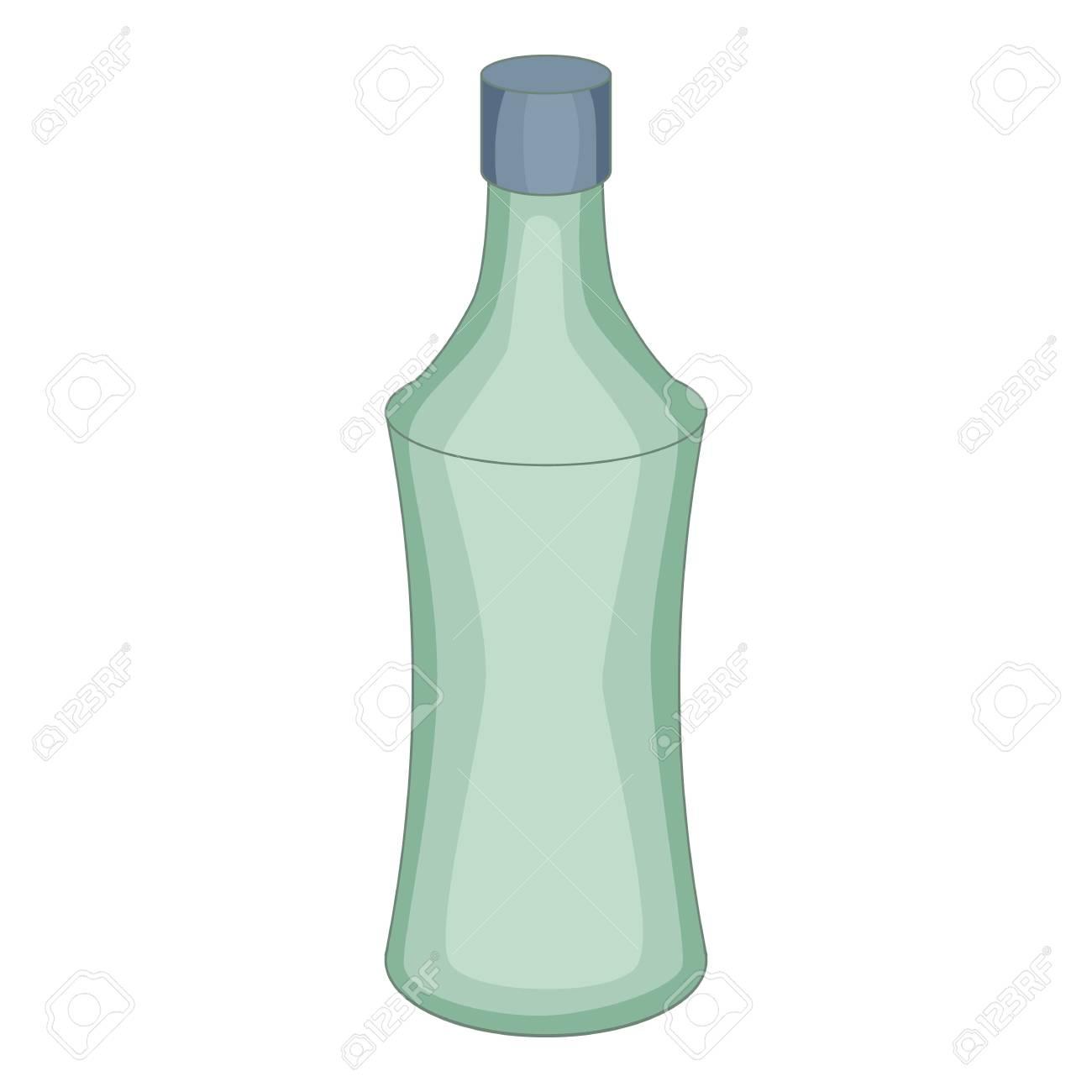 ガラス瓶のアイコンweb デザインのガラス瓶ベクター アイコンの漫画