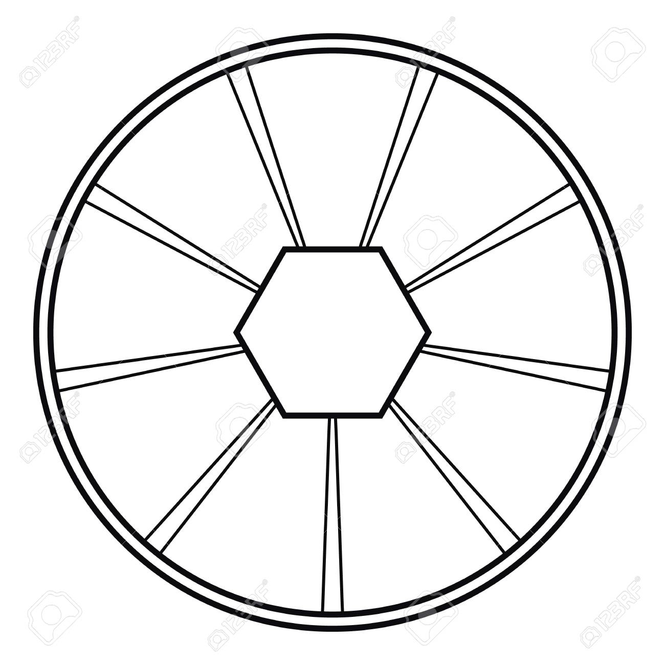 round diagram icon outline illustration of round diagram vector Checklist Icon round diagram icon outline illustration of round diagram vector icon for web stock vector