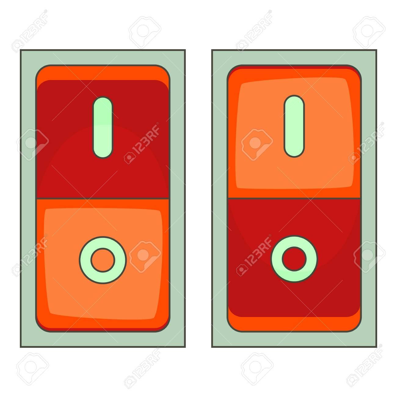 Elektrisches Schalter-Symbol. Karikaturillustration Der Elektrischen ...