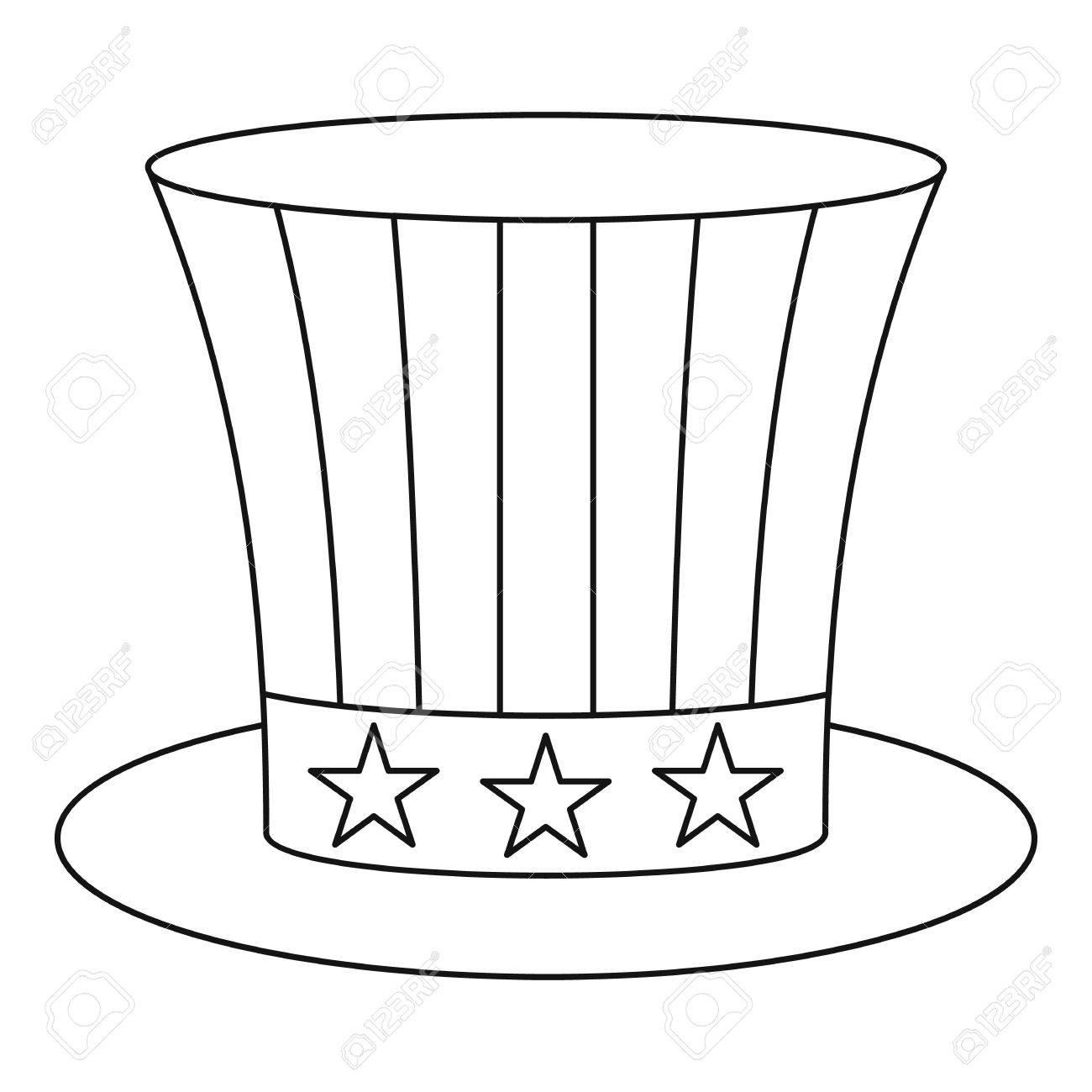 uncle sam hat icon outline illustration of uncle sam hat vector