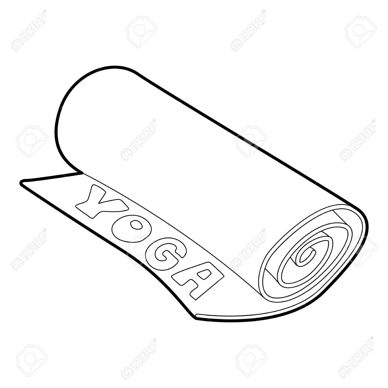 Yoga Mat Icon Outline Style Royalty Free Cliparts Vectors And Stock Illustration Image 71504301