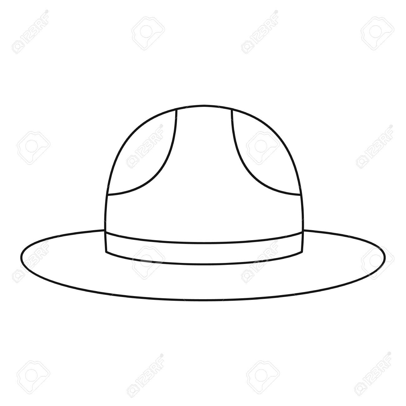 Foto de archivo - Sombrero canadiense montado icono de policía 347644d8736