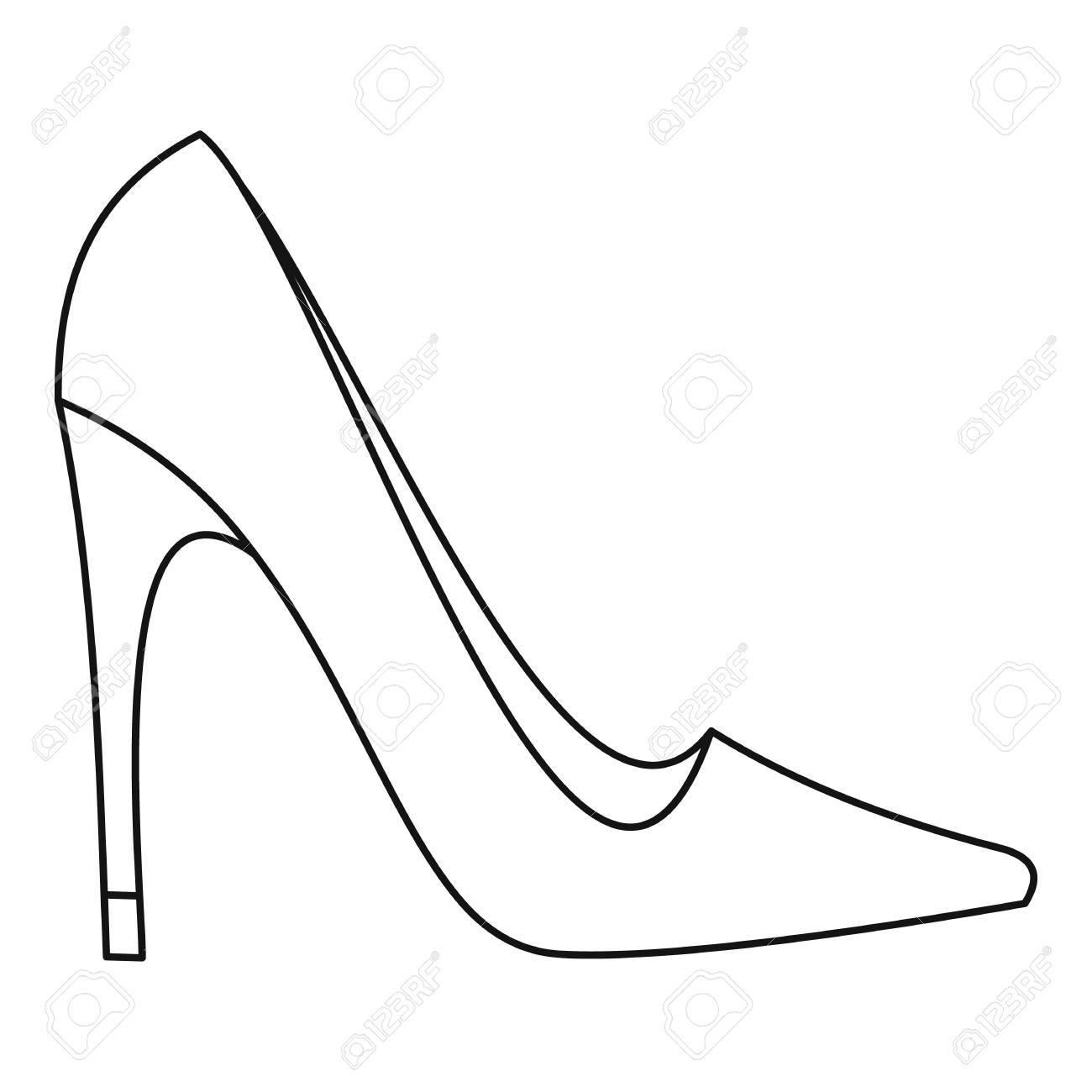 9dff5f9cd34ece Banque d'images - Icône de chaussure à talons hauts femmes élégantes.  Décrire l'illustration de l'icône de vecteur élégante chaussure talon haut  femmes pour ...