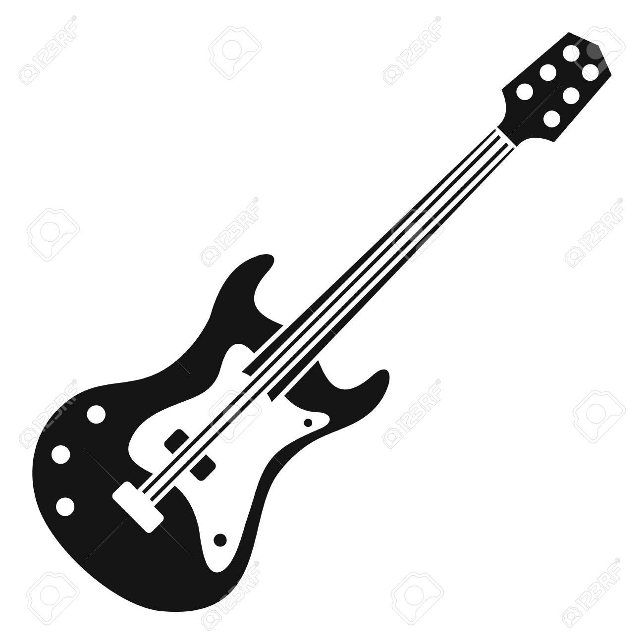 Classical Electric Guitar Icon Simple Illustration Of Classical