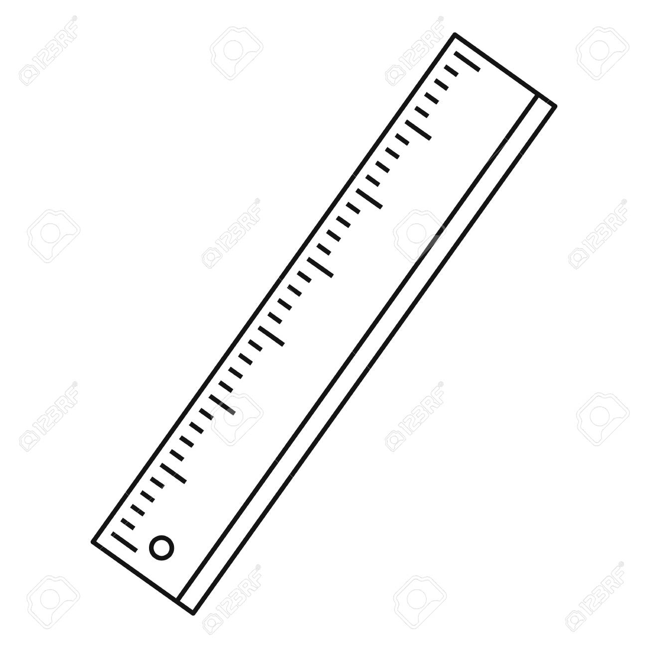 ruler icon outline illustration of ruler vector icon for web rh 123rf com victor rules vector rules