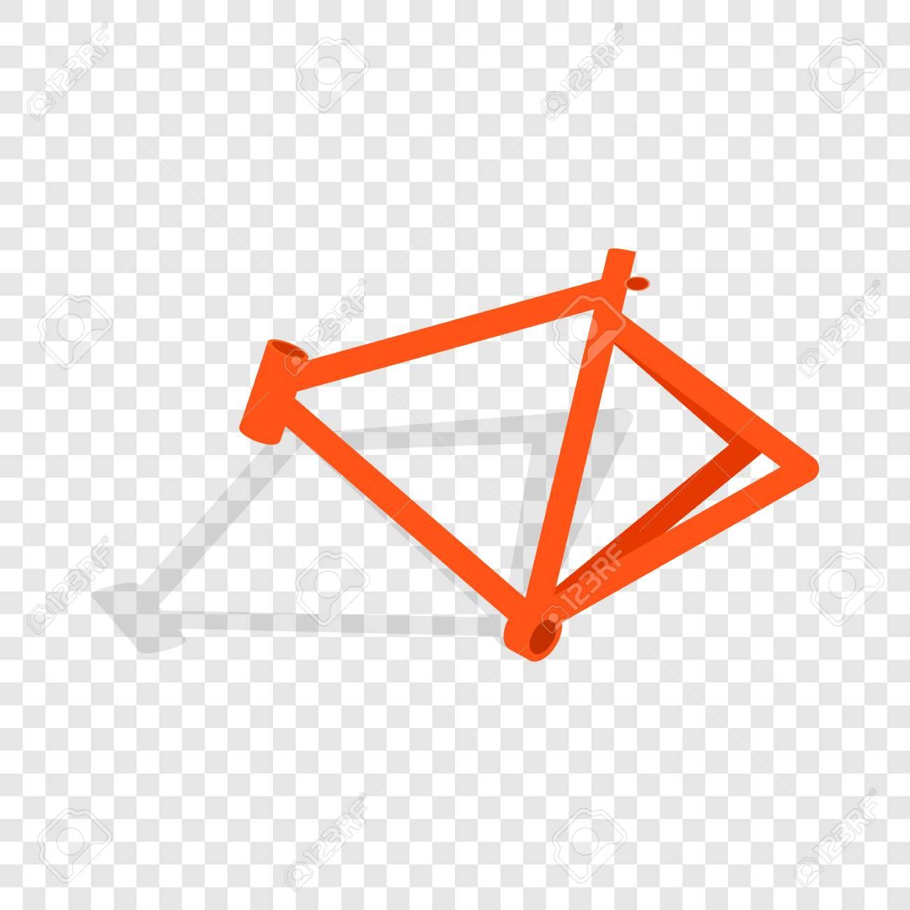 Icono Isométrico De Marco De Bicicleta 3d En Una Ilustración De ...