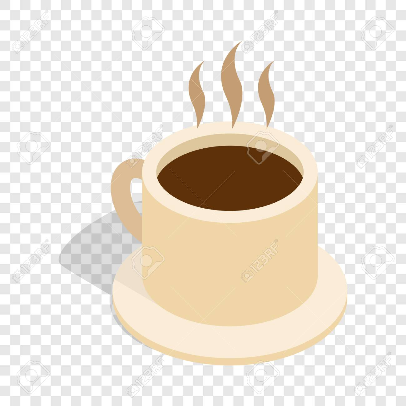 coffee cup isometric icon 3d on a transparent background vector