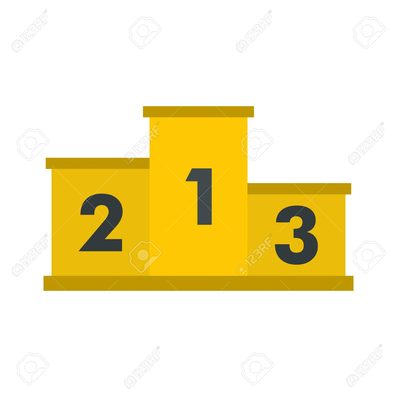 Yellow Podium Winners Icon Flat Style Royalty Free Cliparts Vectors And Stock Illustration Image 73644192