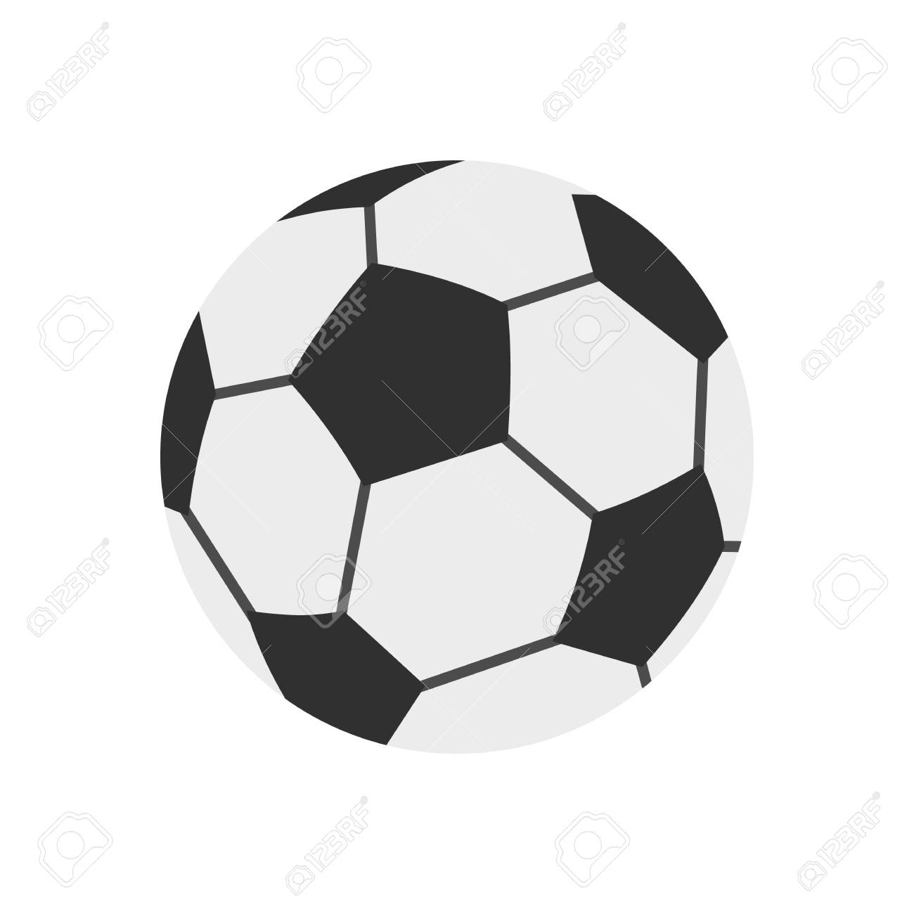 Soccer Ball Icon Flat Style