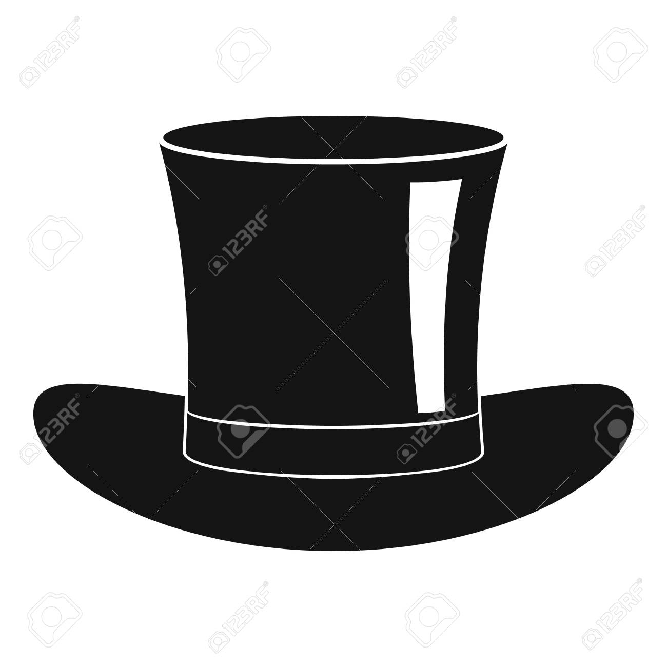 Silk hat icon simple style royalty free cliparts vectors jpg 1300x1300 Silk  hat e5ccfe5aaaf3