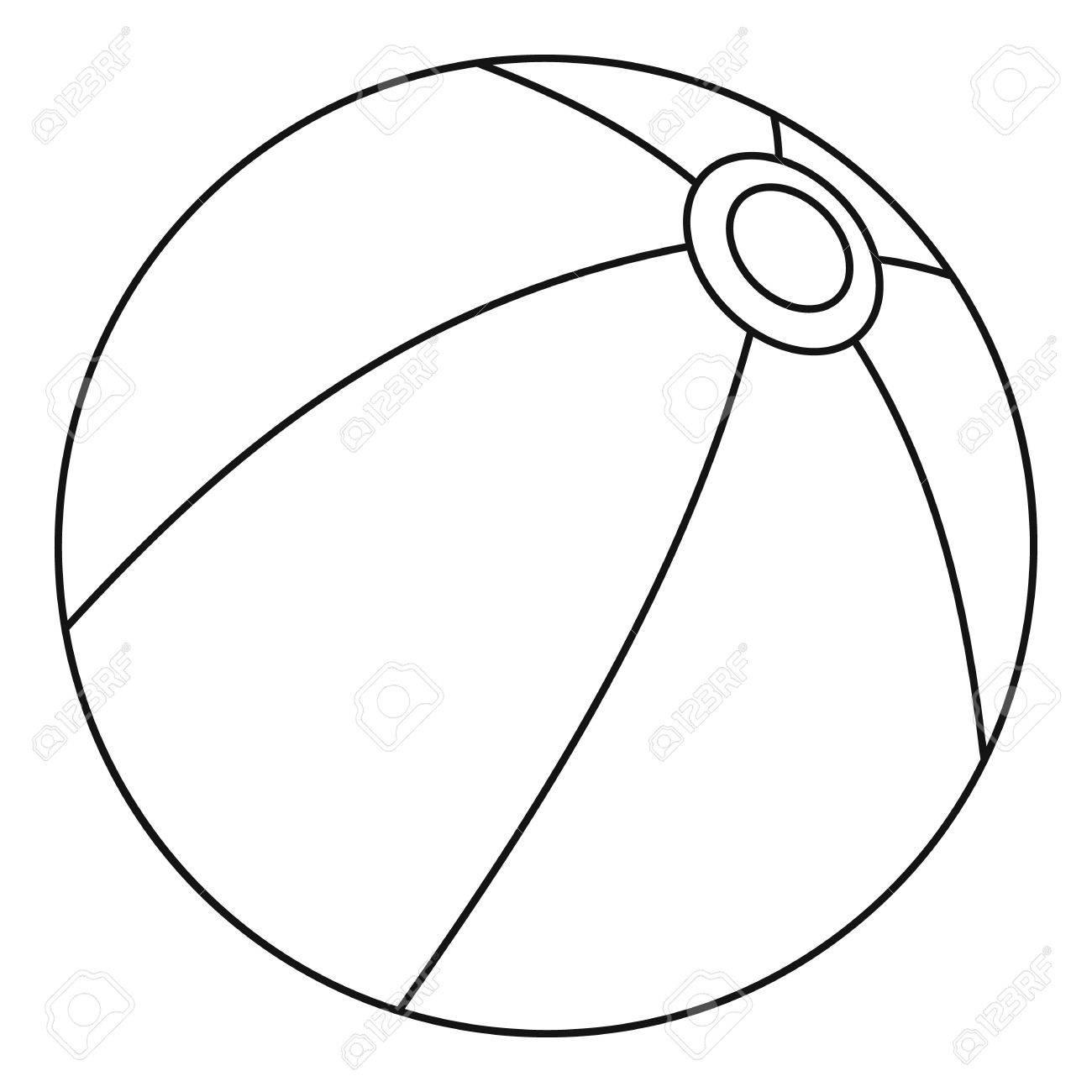 ball icon outline illustration of ball vector icon for web royalty rh 123rf com vector ball valves vector bally