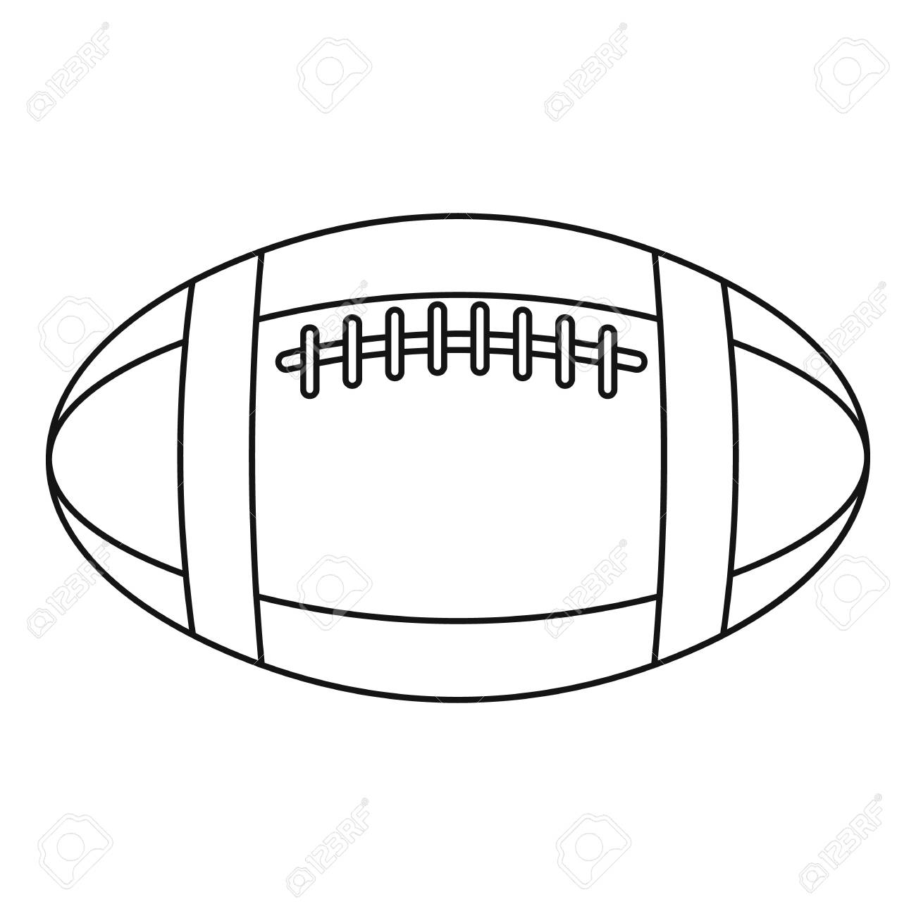 Football Or Rugby Ball Icon Outline Illustration Of Football Royalty Free Cliparts Vectors And Stock Illustration Image 74964861