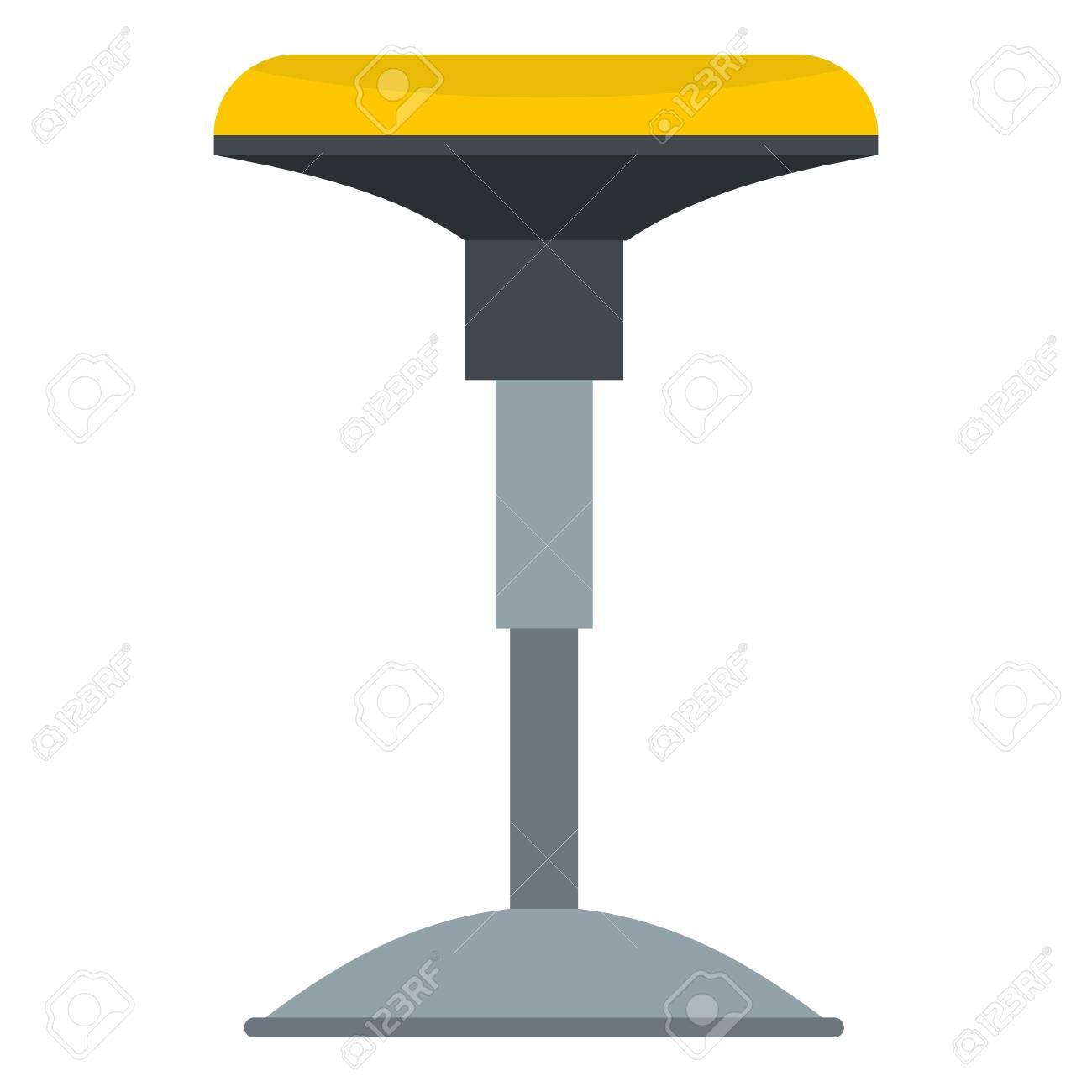 Icône de tabouret de bar jaune isolé