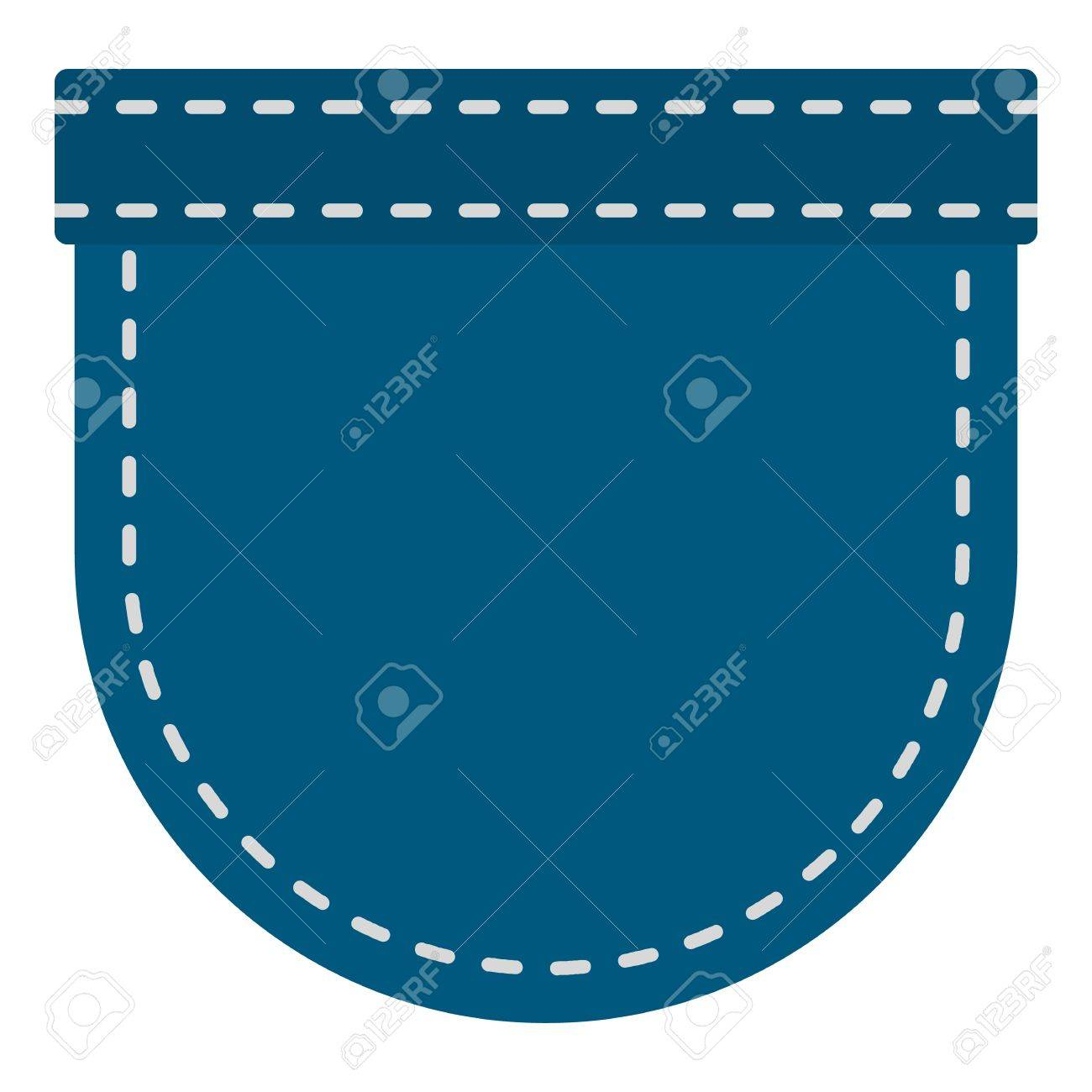 Blue jeans pocket pattern flat — Stock Vector © ylivdesign
