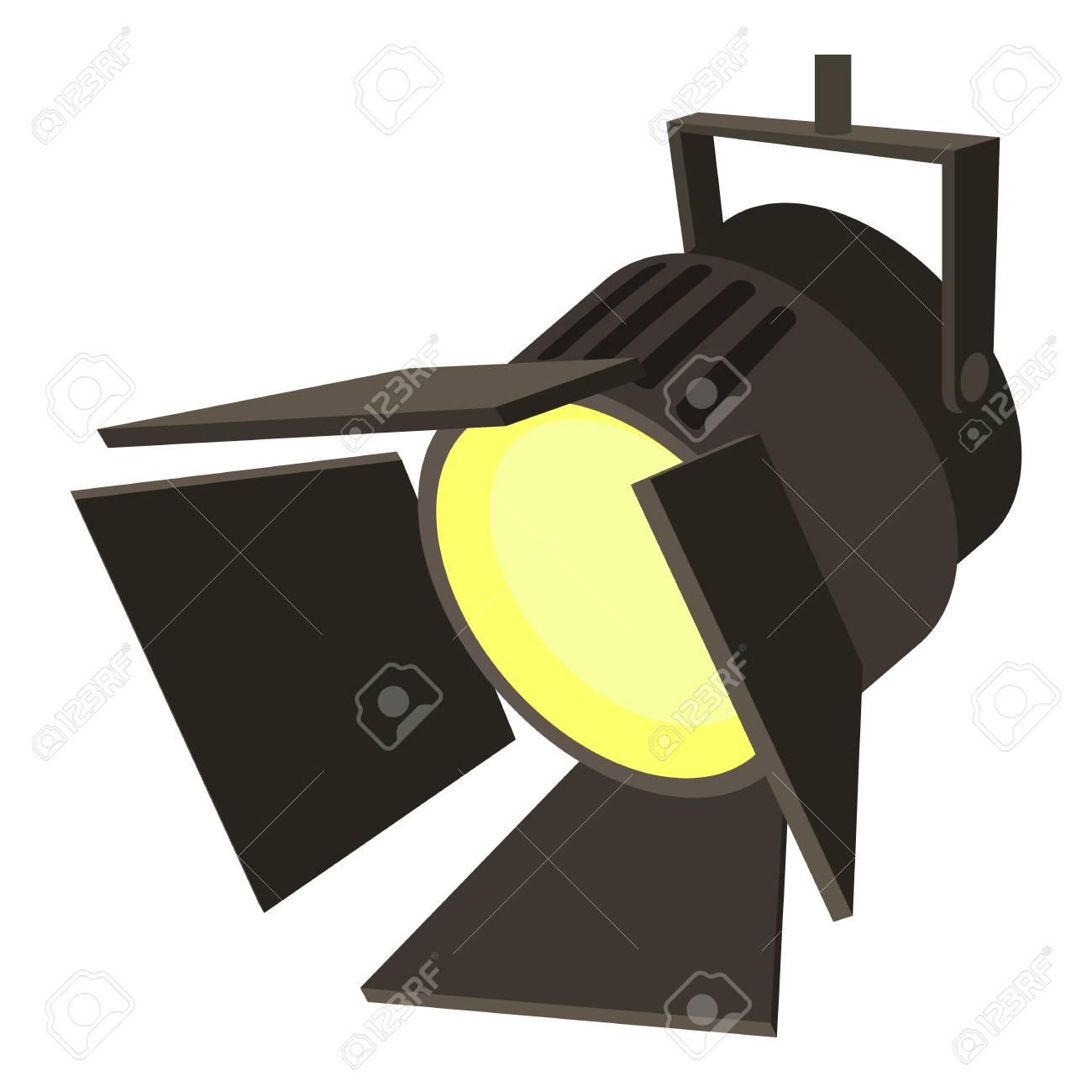 Movie or theatre spotlight icon. Cartoon illustration of movie or theatre spotlight vector icon for web - 77076296