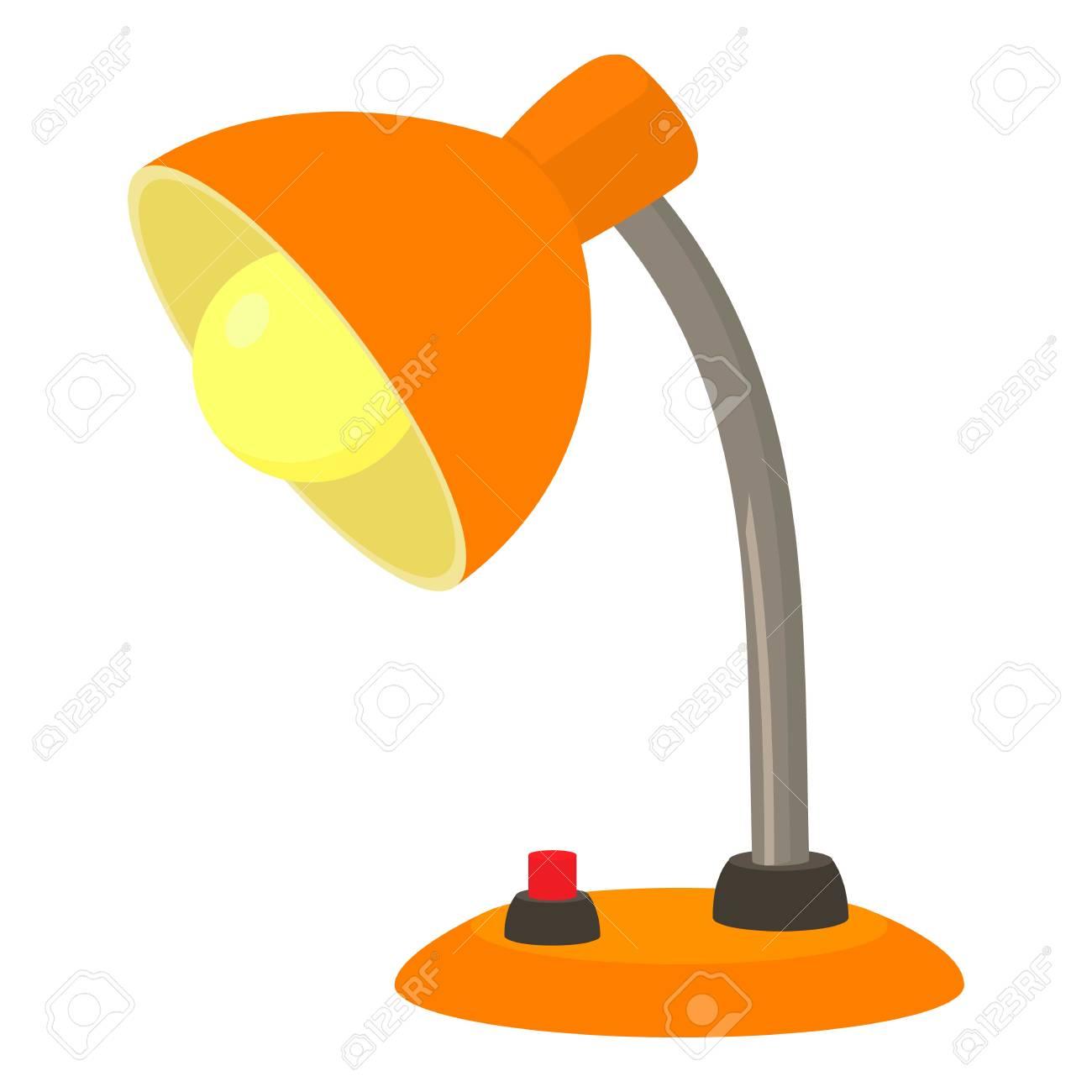 icono web de escritorio de Icono de vector naranja lámpara de de para de lámpara dibujos de escritorio naranjaIlustración animados la wkOP0n
