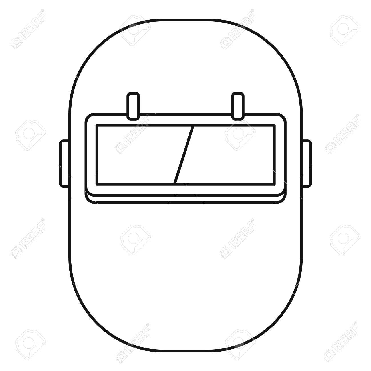 welding mask diagram wiring diagramwelding mask icon in outline style isolated vector illustrationvector welding mask icon in outline style isolated