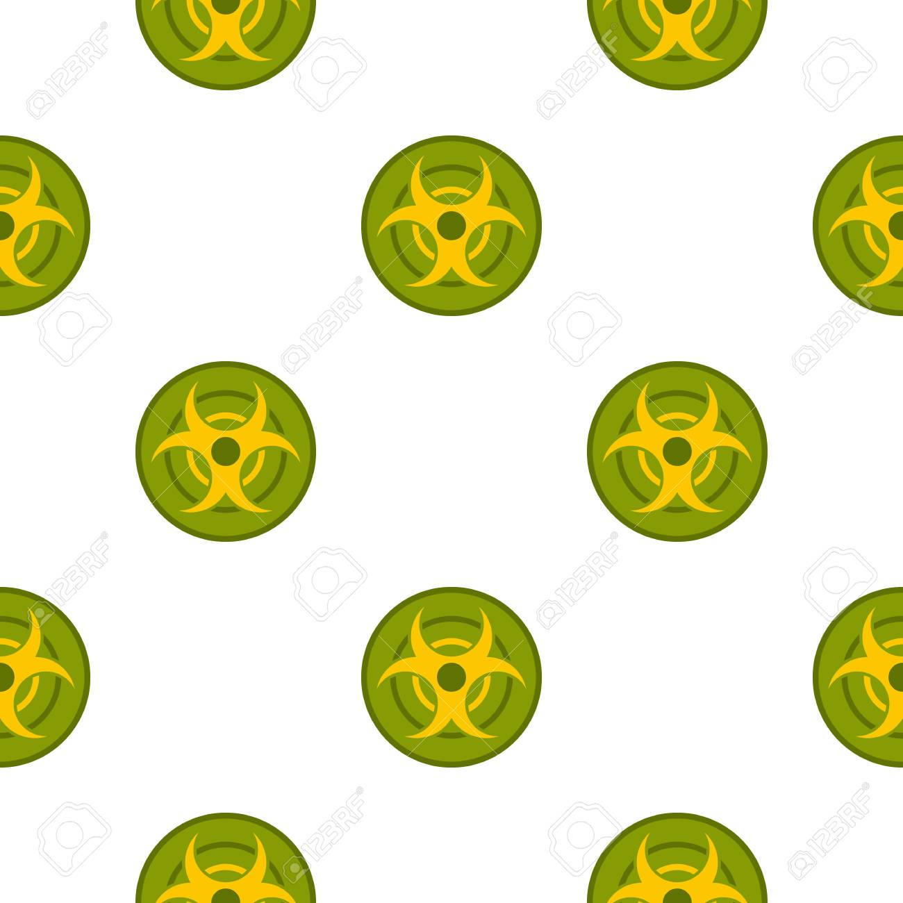 Biohazard Symbol Pattern Seamless Royalty Free Cliparts Vectors