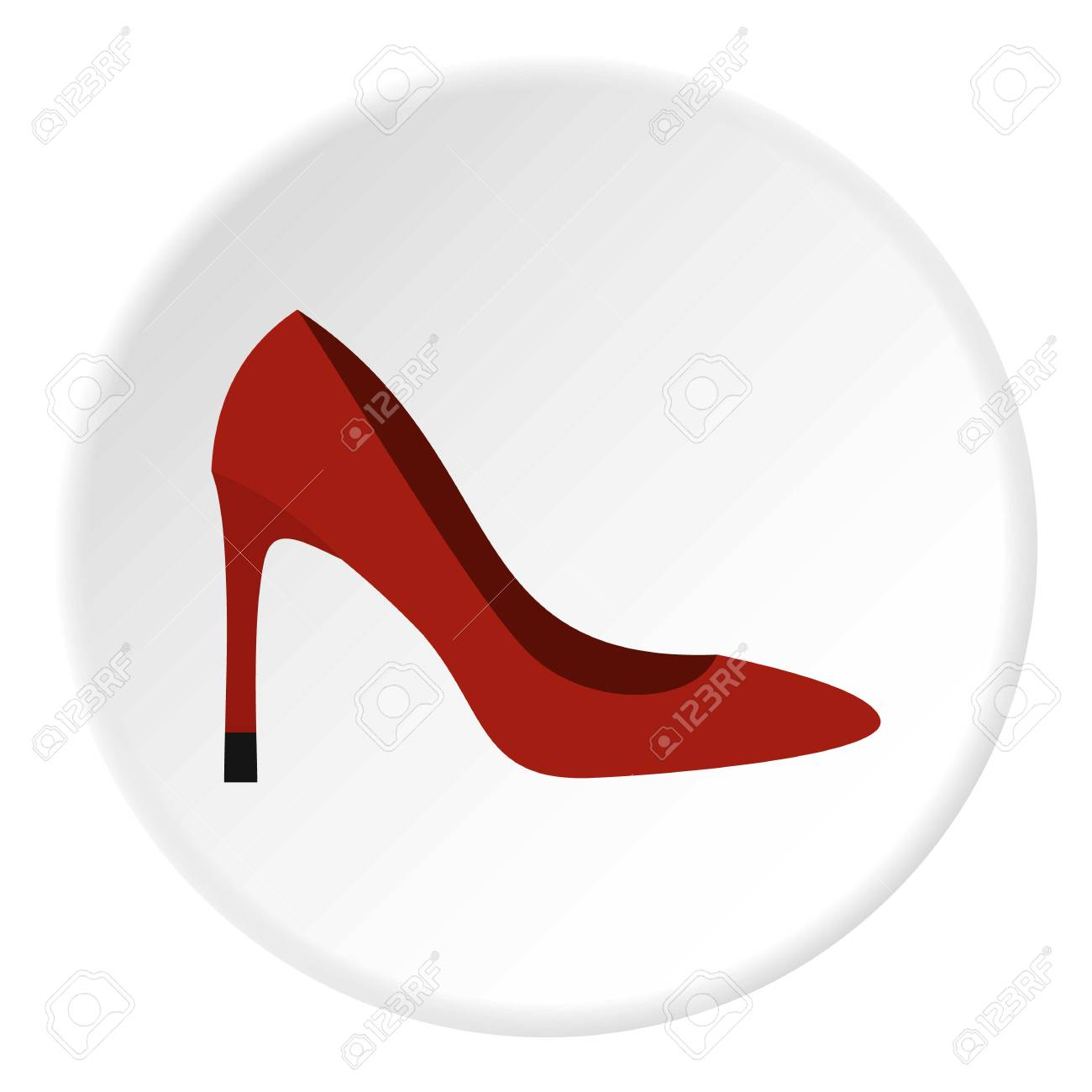shoe icon circle royalty free cliparts vectors and stock rh 123rf com shoe print vector shoelace vector