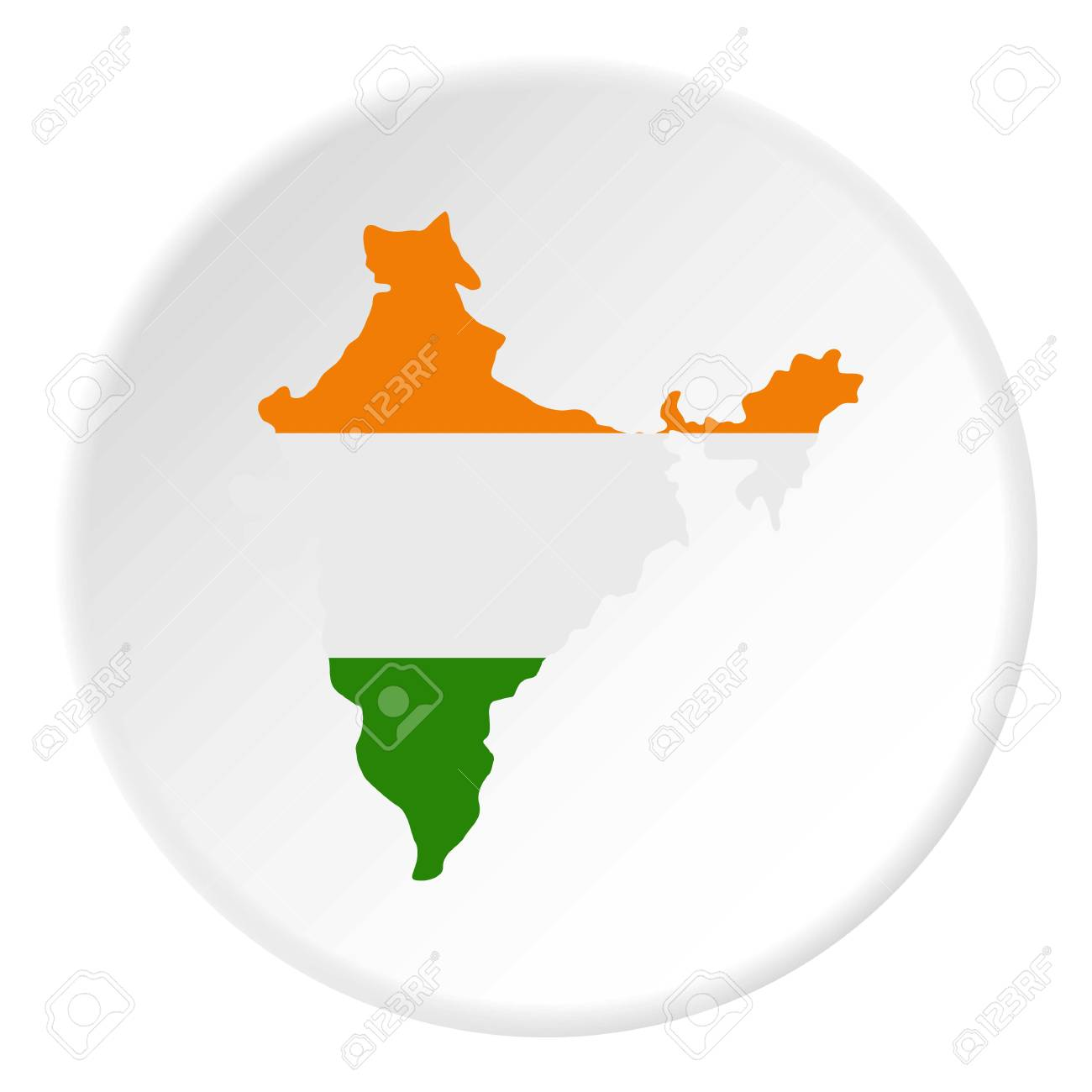 Indian map icon in flat circle isolated on white vector illustration indian map icon in flat circle isolated on white vector illustration for web stock vector gumiabroncs Gallery