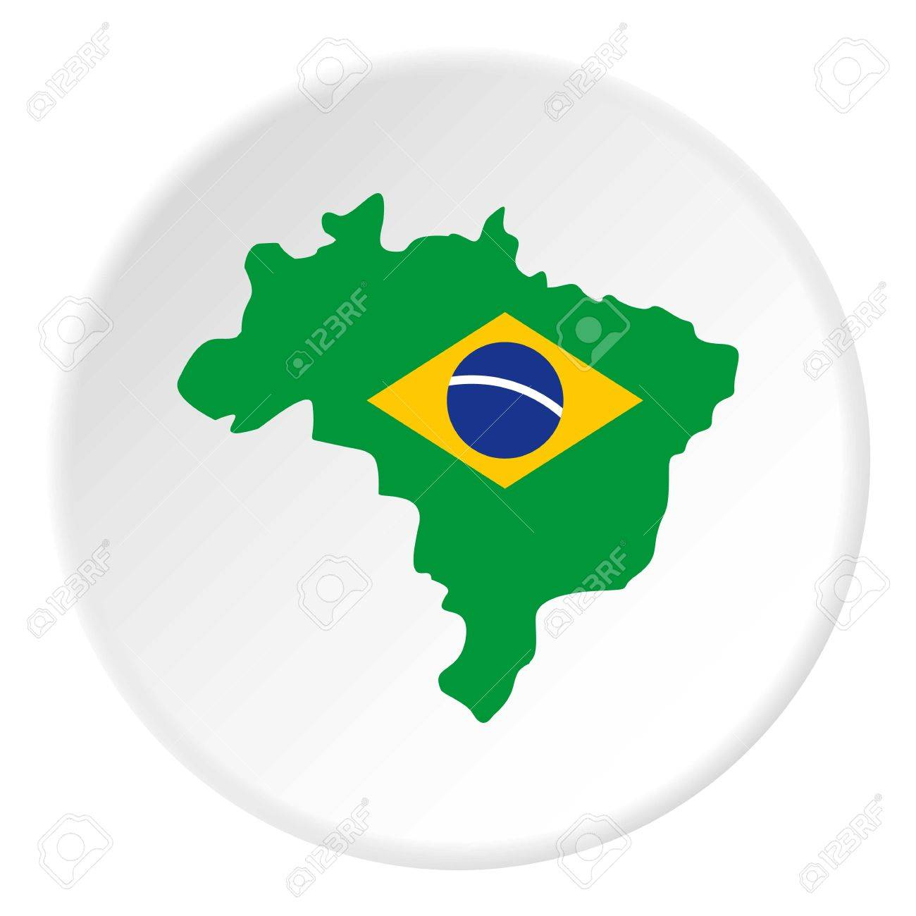 Map of brasil icon in flat circle isolated vector illustration map of brasil icon in flat circle isolated vector illustration for web stock vector 81387279 gumiabroncs Gallery
