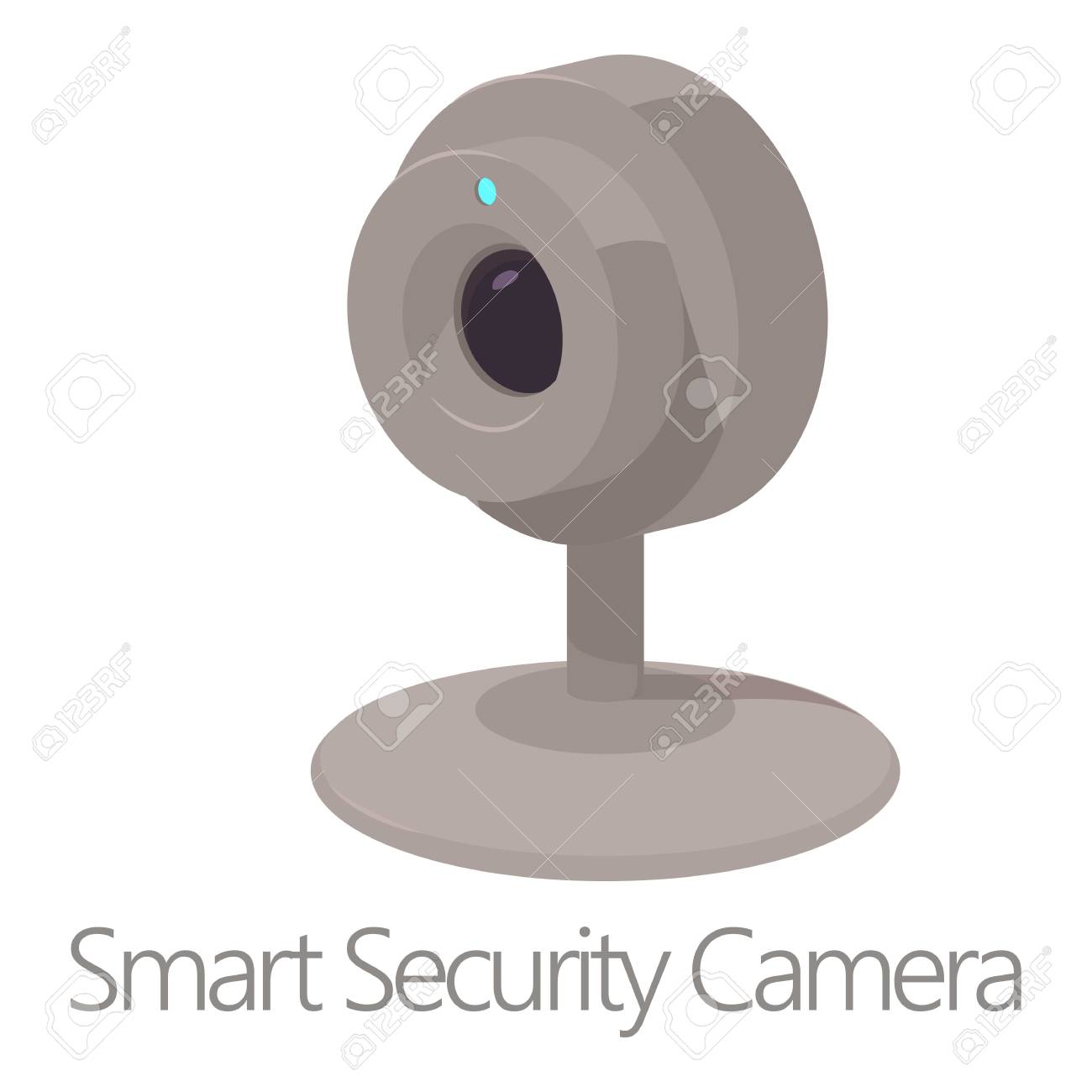 Smart Security Camera Icon Cartoon Style Royalty Free Cliparts