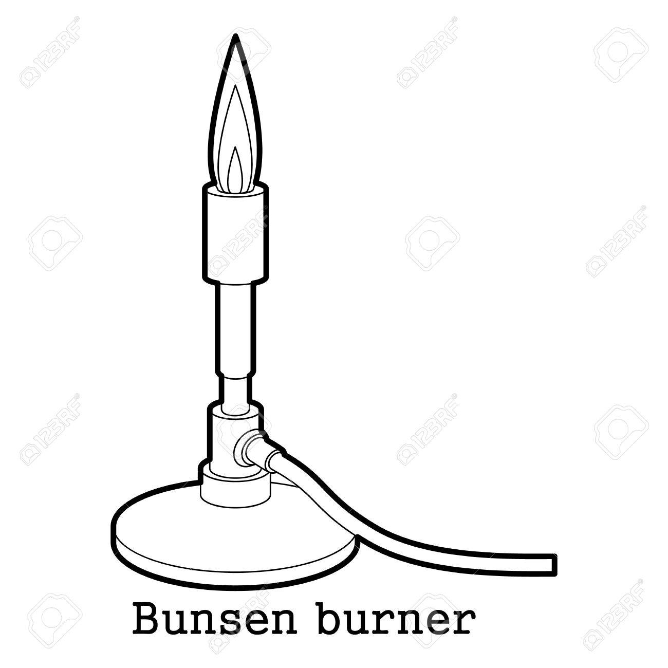 Bunsen Burner Icon Outline Royalty Free Cliparts, Vectors, And Stock ... for Bunsen Burner Drawing  76uhy