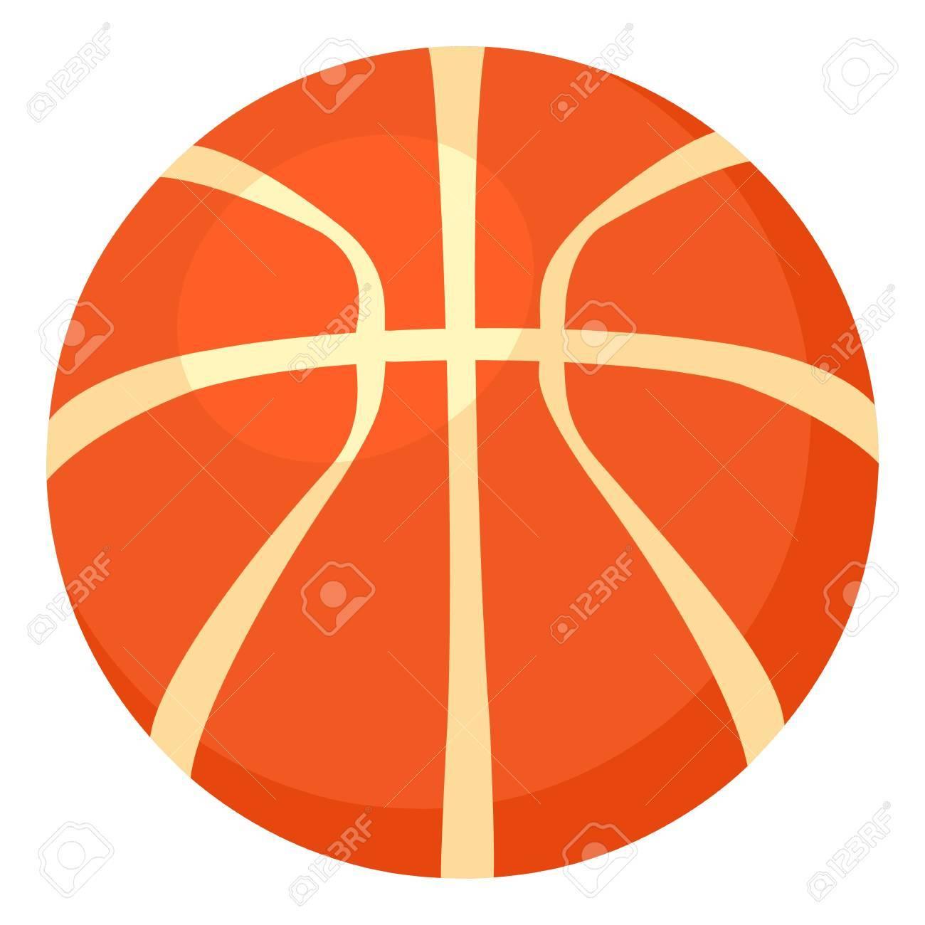 Basketball Ball Icon Cartoon Style Illustration