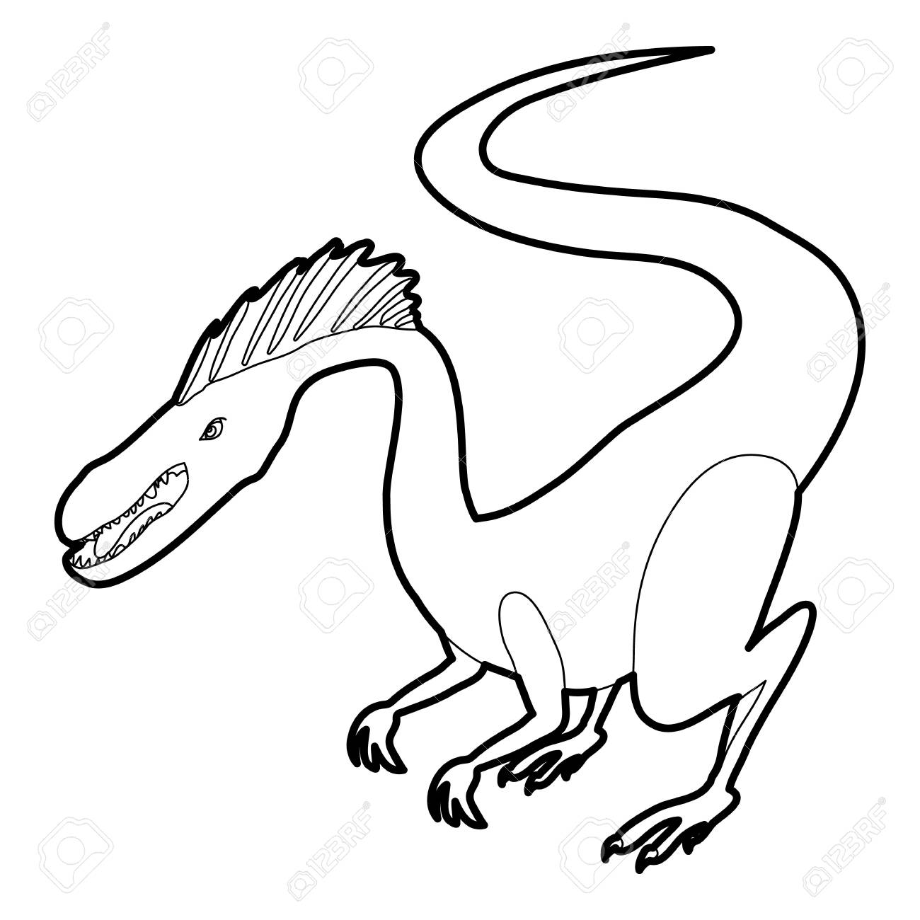 hungry dinosaur icon outline stock vector 82425064