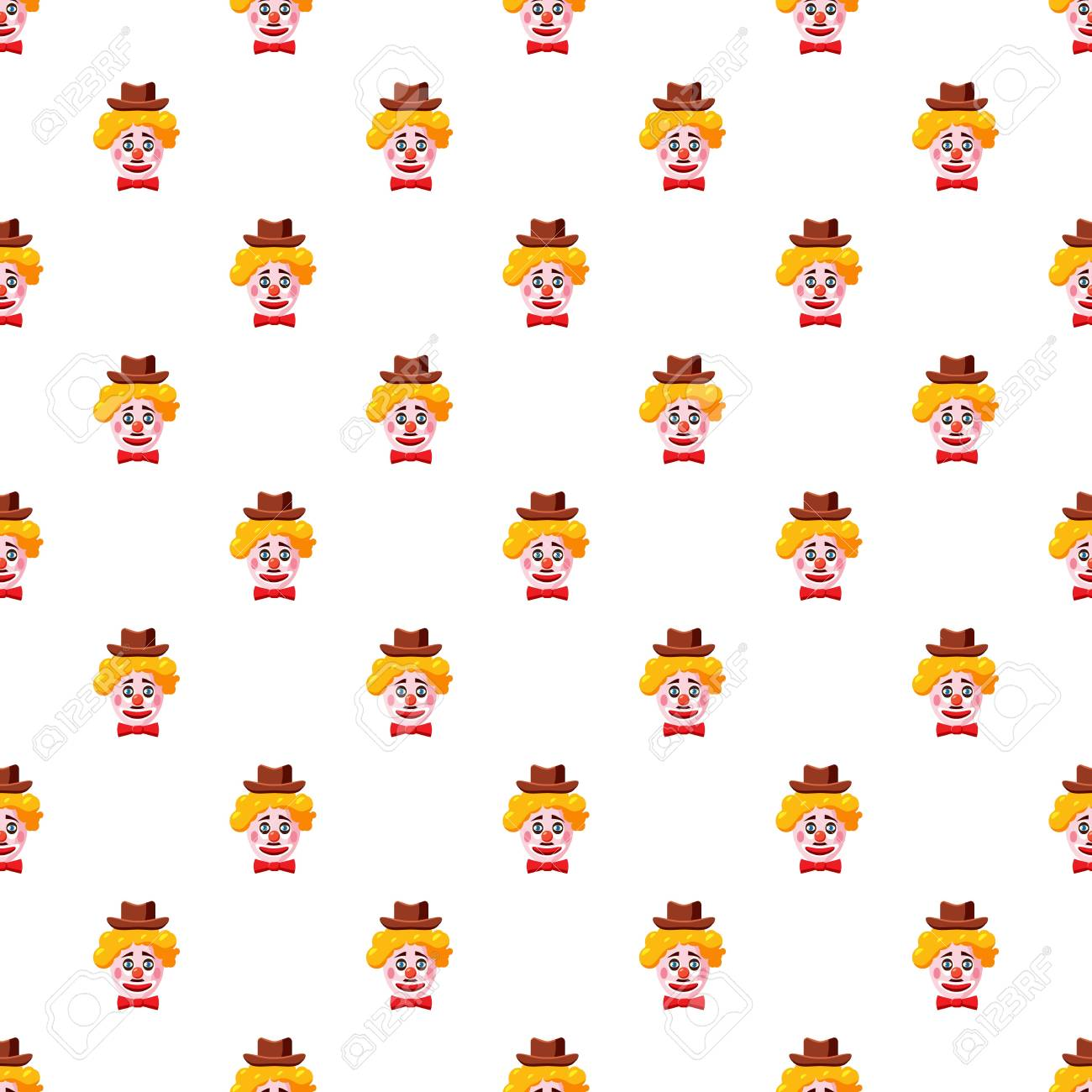 Clown face with hat pattern Stock Vector - 82557947 c35ff423492