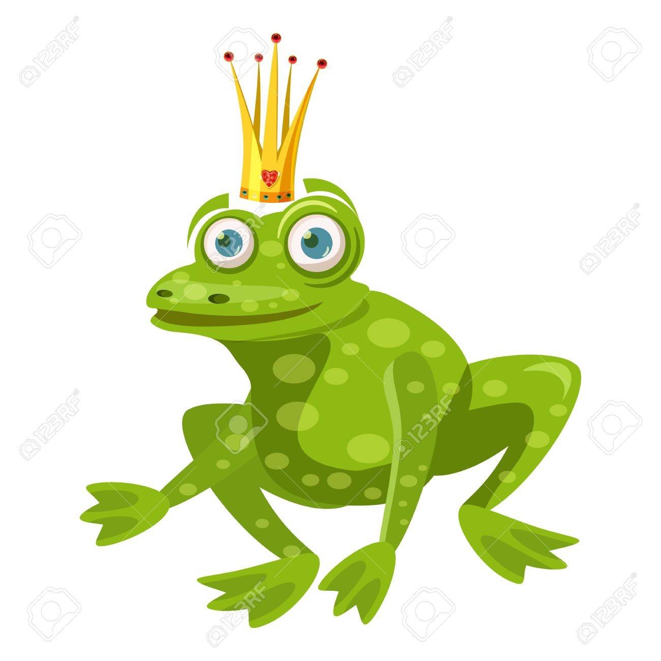 princess frog icon cartoon illustration of princess frog vector rh 123rf com Leaping Frog Clip Art Frog Silhouette
