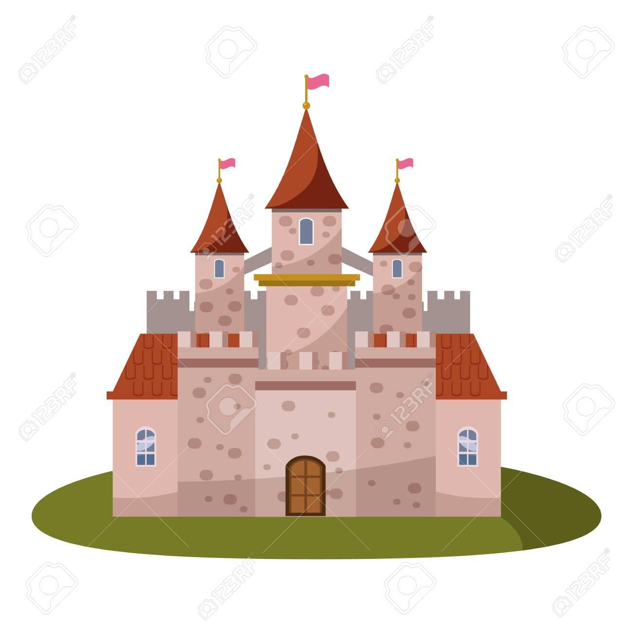Icone Du Chateau Illustration De Dessin Anime De L Icone De Vecteur De Chateau Pour Le Web Clip Art Libres De Droits Vecteurs Et Illustration Image 83066602