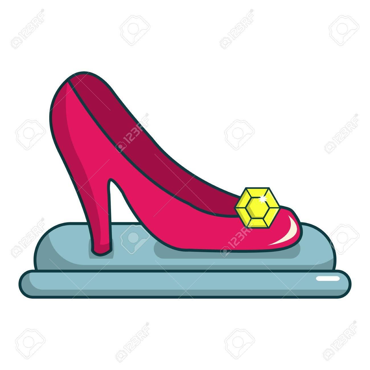 Icono Zapato Para La De Dibujos Princesa Del Animados El Web PrincesaIlustración Vector Diseño R35ALS4jcq